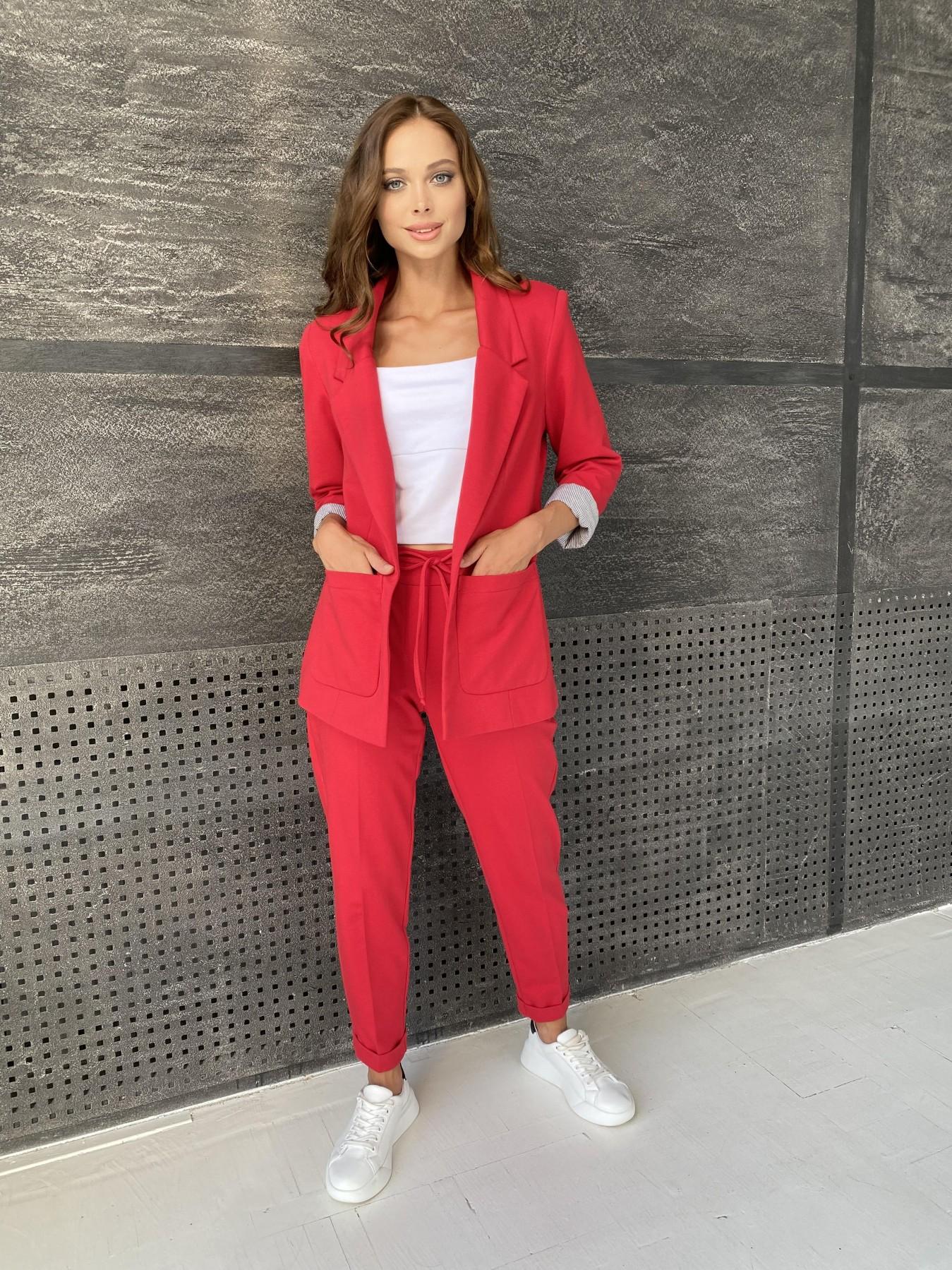Империал костюм из  трикотажа двунитки 11572 АРТ. 48368 Цвет: Красный - фото 3, интернет магазин tm-modus.ru