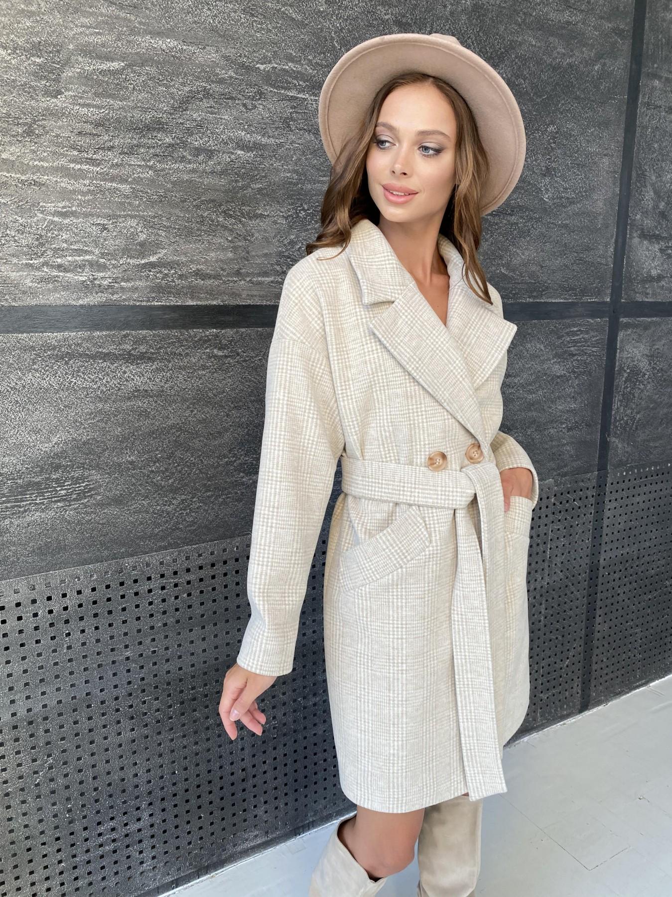 Купить пальто в Харькове Modus Сенсей пальто клетка комби пальтовая ткань 11649