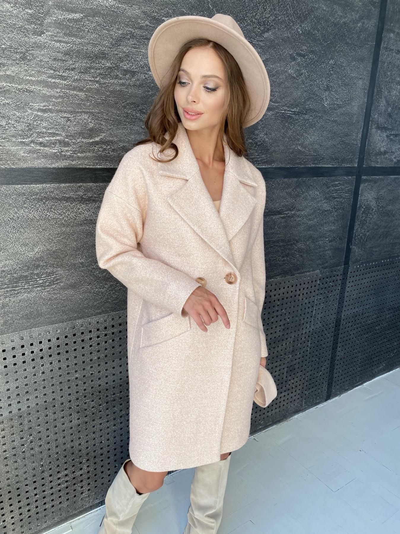 Сенсей пальто  шерсть букле мелкое пальтовая ткань 11647 АРТ. 48355 Цвет: Бежевый 30 - фото 1, интернет магазин tm-modus.ru