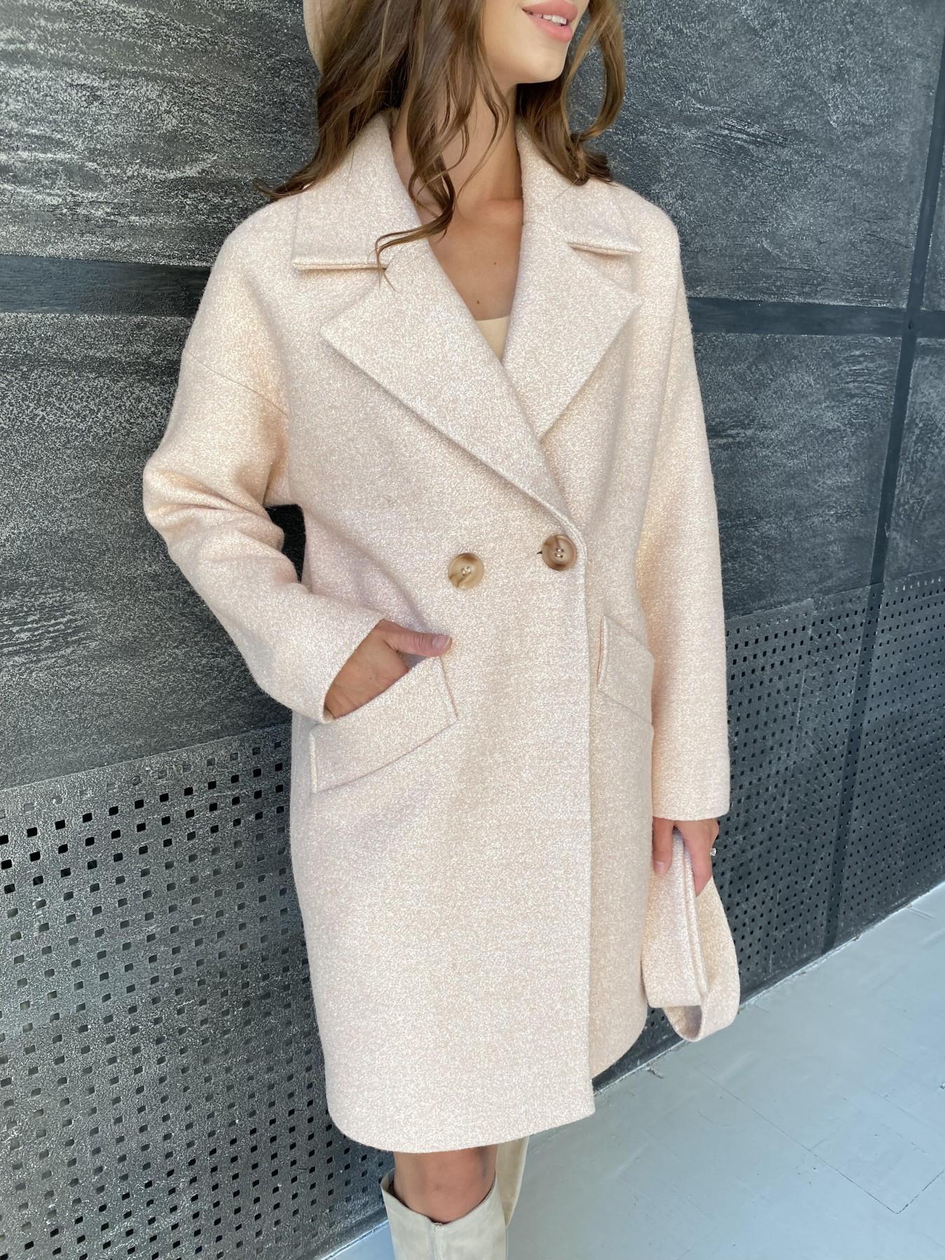 Сенсей пальто  шерсть букле мелкое пальтовая ткань 11647 АРТ. 48355 Цвет: Бежевый 30 - фото 3, интернет магазин tm-modus.ru