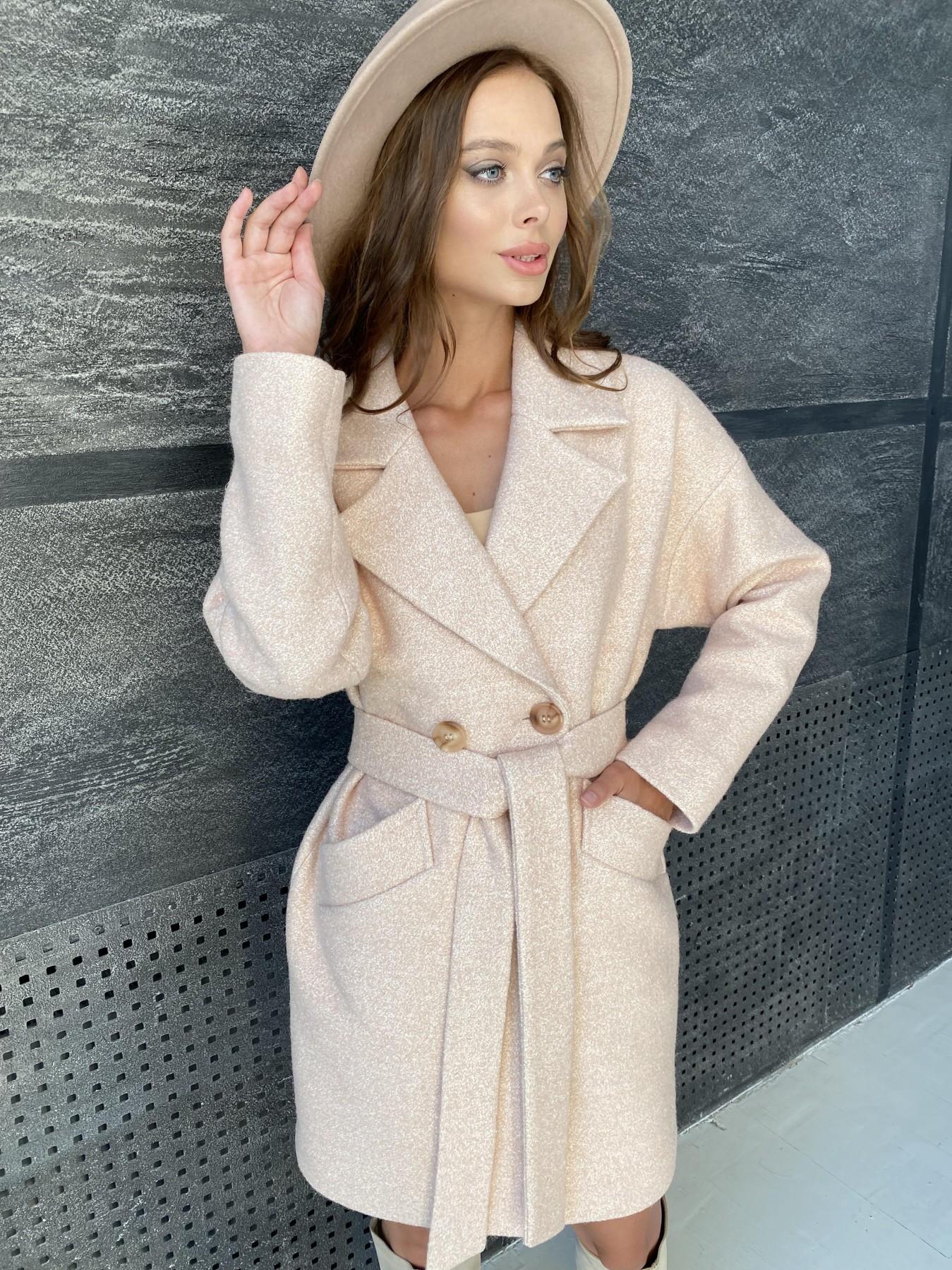 Сенсей пальто  шерсть букле мелкое пальтовая ткань 11647 АРТ. 48355 Цвет: Бежевый 30 - фото 4, интернет магазин tm-modus.ru