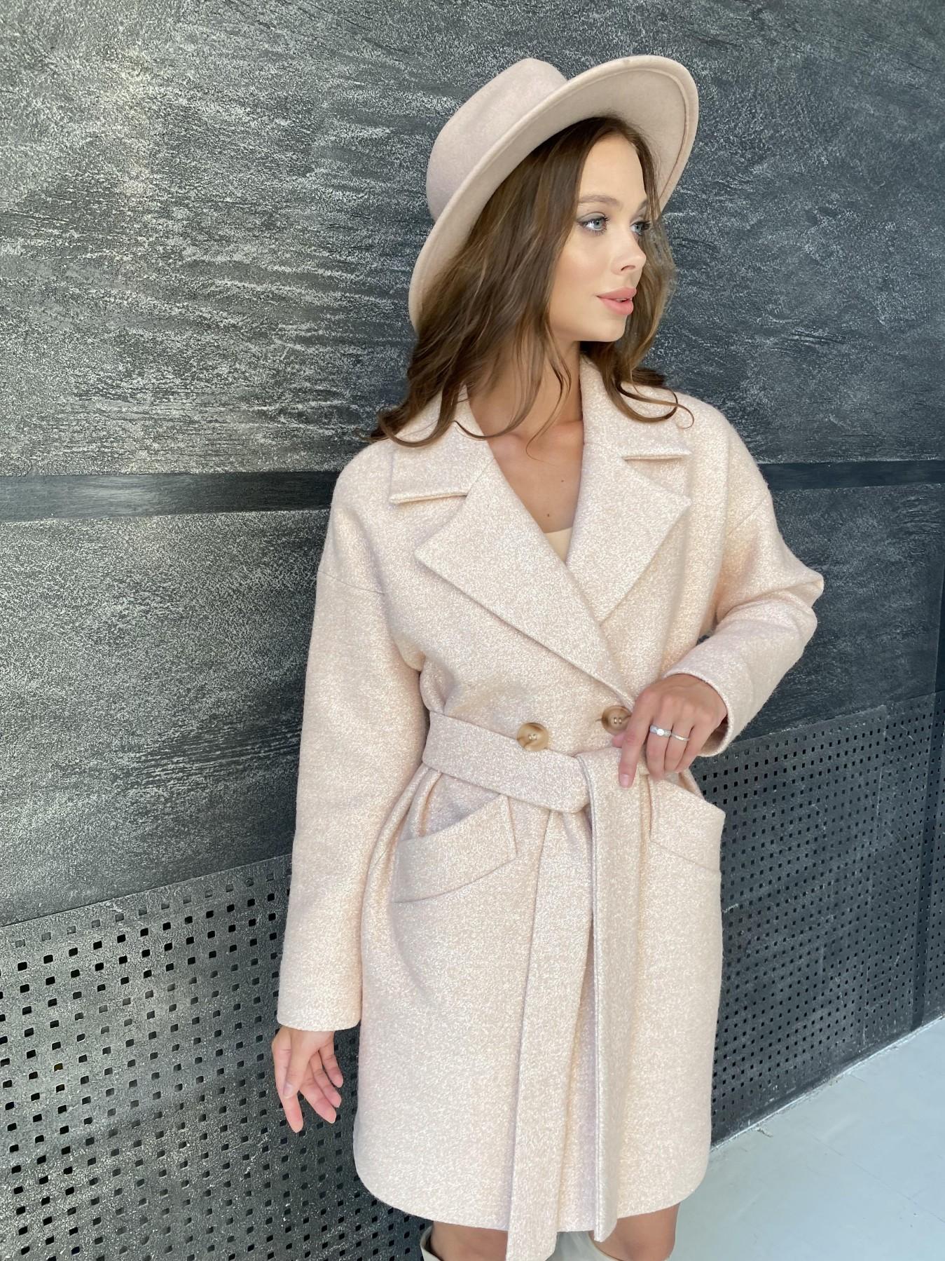 Сенсей пальто  шерсть букле мелкое пальтовая ткань 11647 АРТ. 48355 Цвет: Бежевый 30 - фото 5, интернет магазин tm-modus.ru
