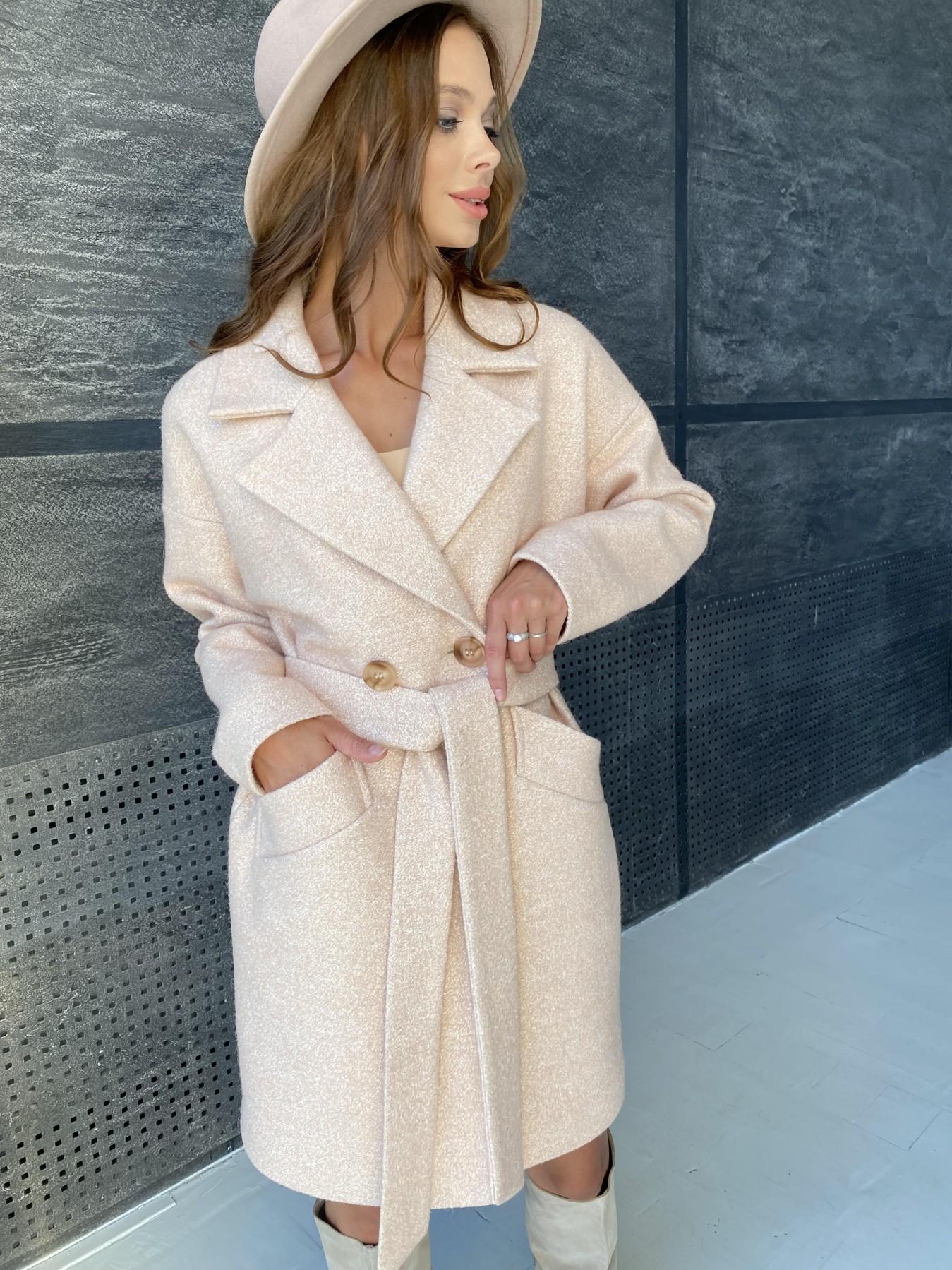 Сенсей пальто  шерсть букле мелкое пальтовая ткань 11647 АРТ. 48355 Цвет: Бежевый 30 - фото 7, интернет магазин tm-modus.ru