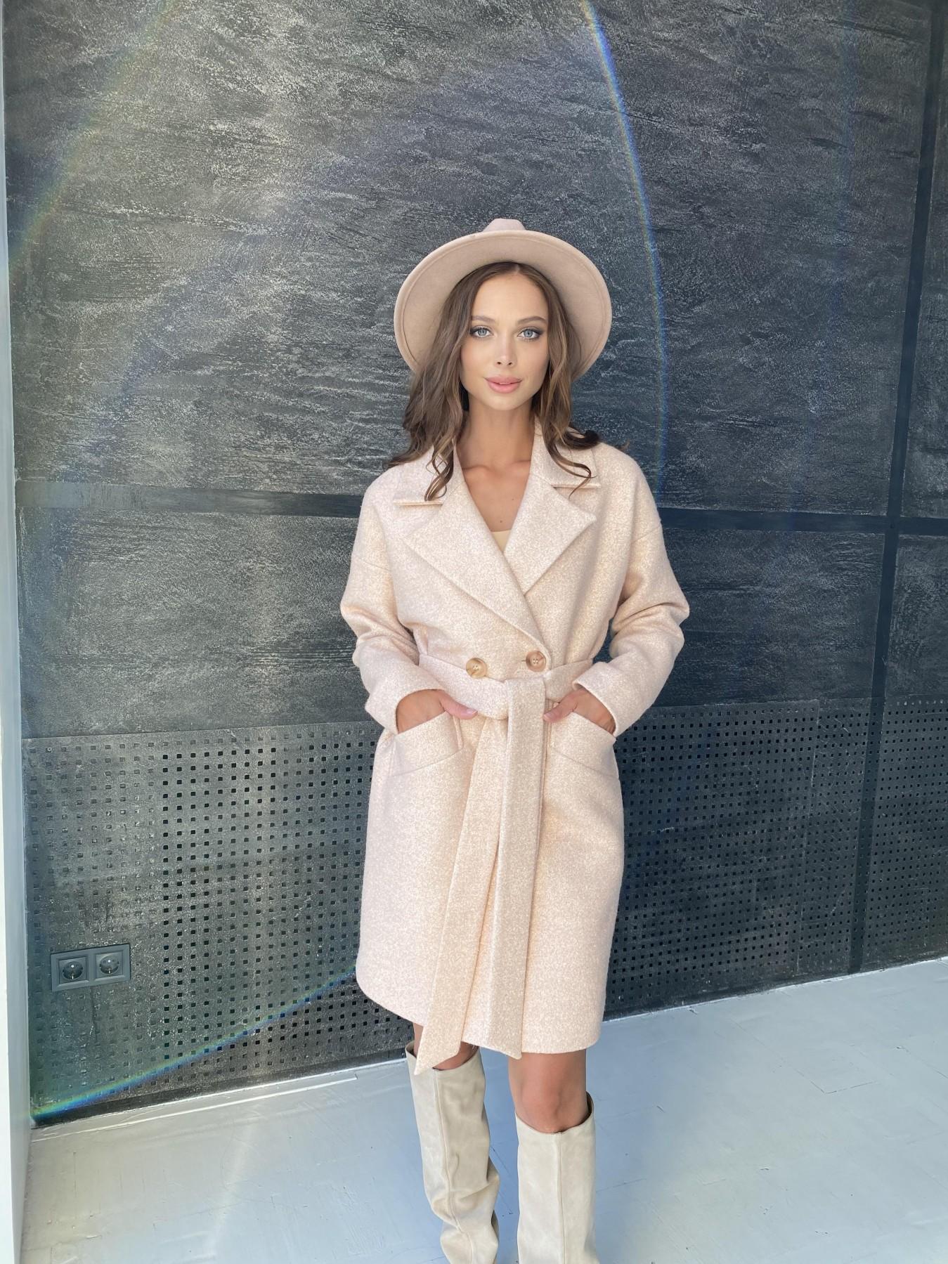 Сенсей пальто  шерсть букле мелкое пальтовая ткань 11647 АРТ. 48355 Цвет: Бежевый 30 - фото 8, интернет магазин tm-modus.ru