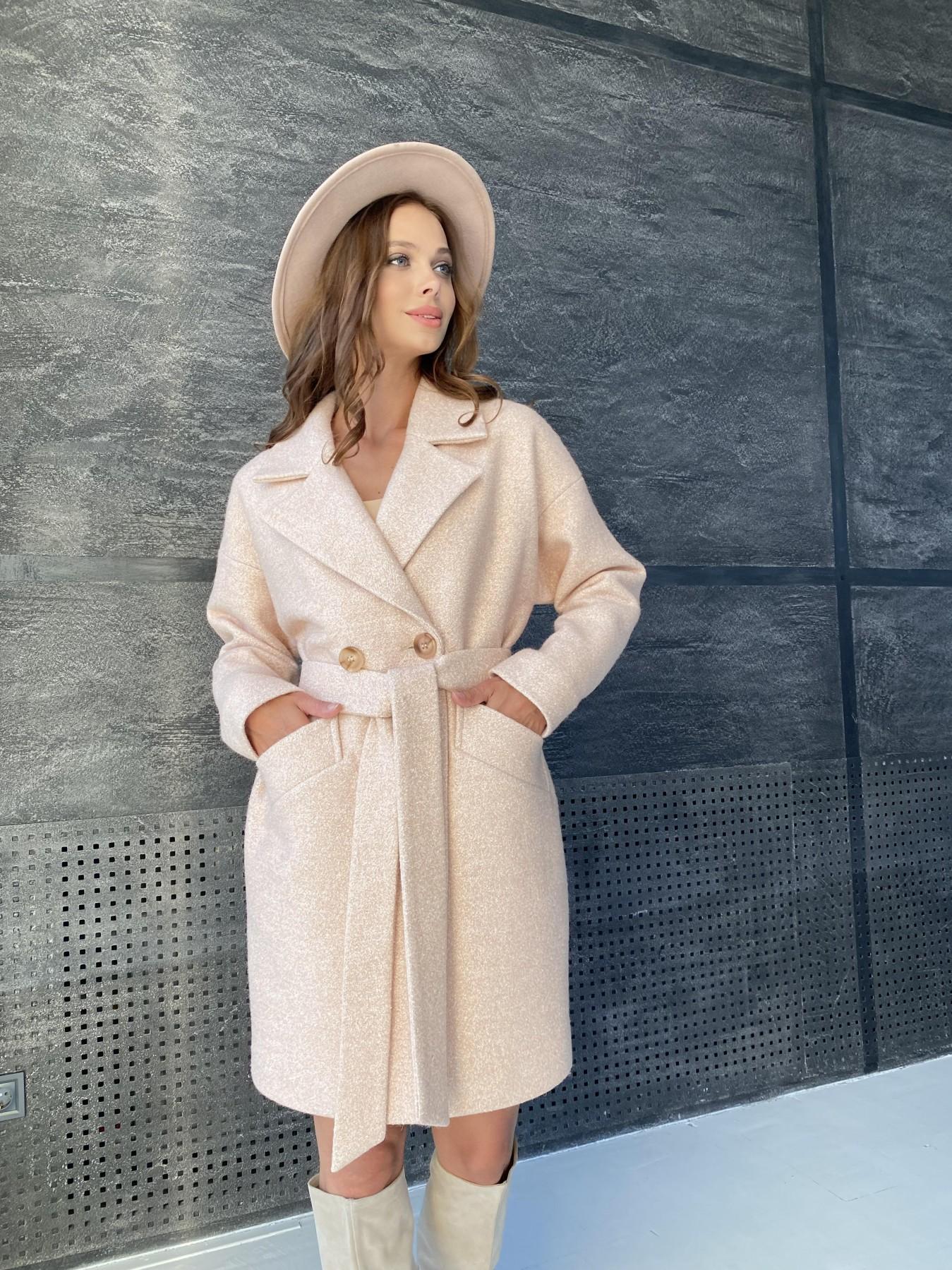 Сенсей пальто  шерсть букле мелкое пальтовая ткань 11647 АРТ. 48355 Цвет: Бежевый 30 - фото 9, интернет магазин tm-modus.ru