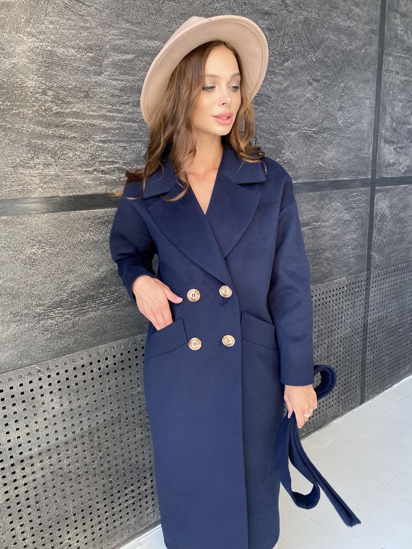 Сенсей пальто макси из кашемира   10309 АРТ. 48360 Цвет: Т.синий - фото 1, интернет магазин tm-modus.ru