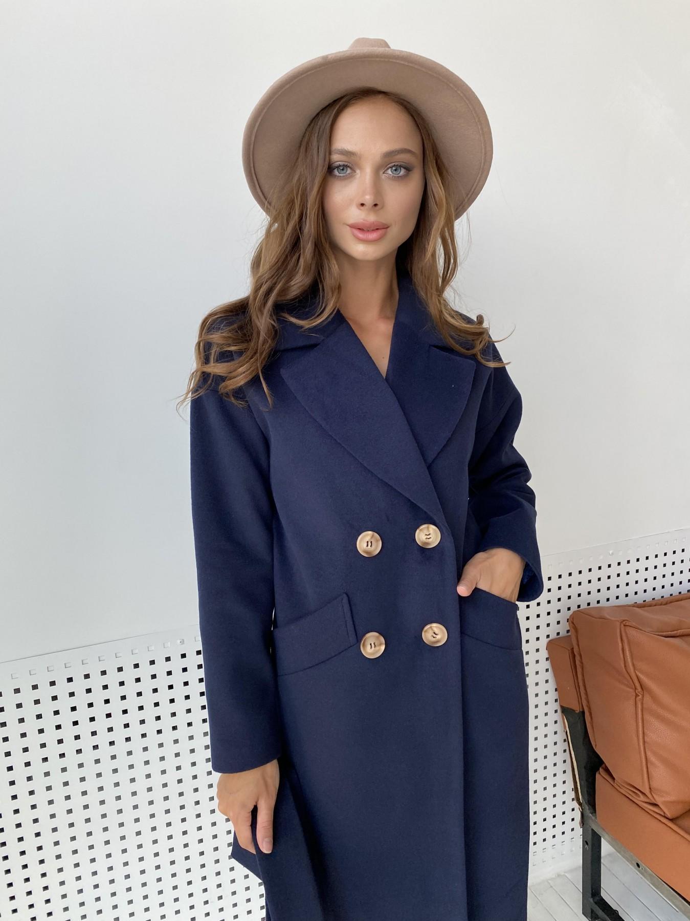 Сенсей пальто макси из кашемира   10309 АРТ. 48360 Цвет: Т.синий - фото 2, интернет магазин tm-modus.ru