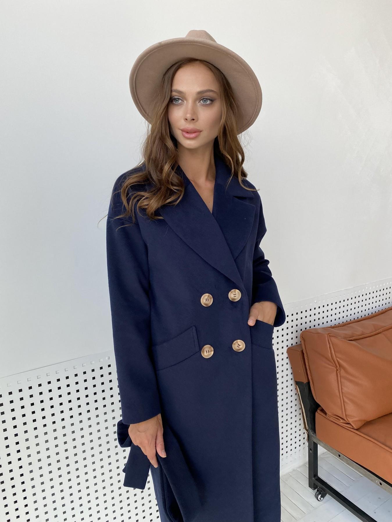 Сенсей пальто макси из кашемира   10309 АРТ. 48360 Цвет: Т.синий - фото 3, интернет магазин tm-modus.ru