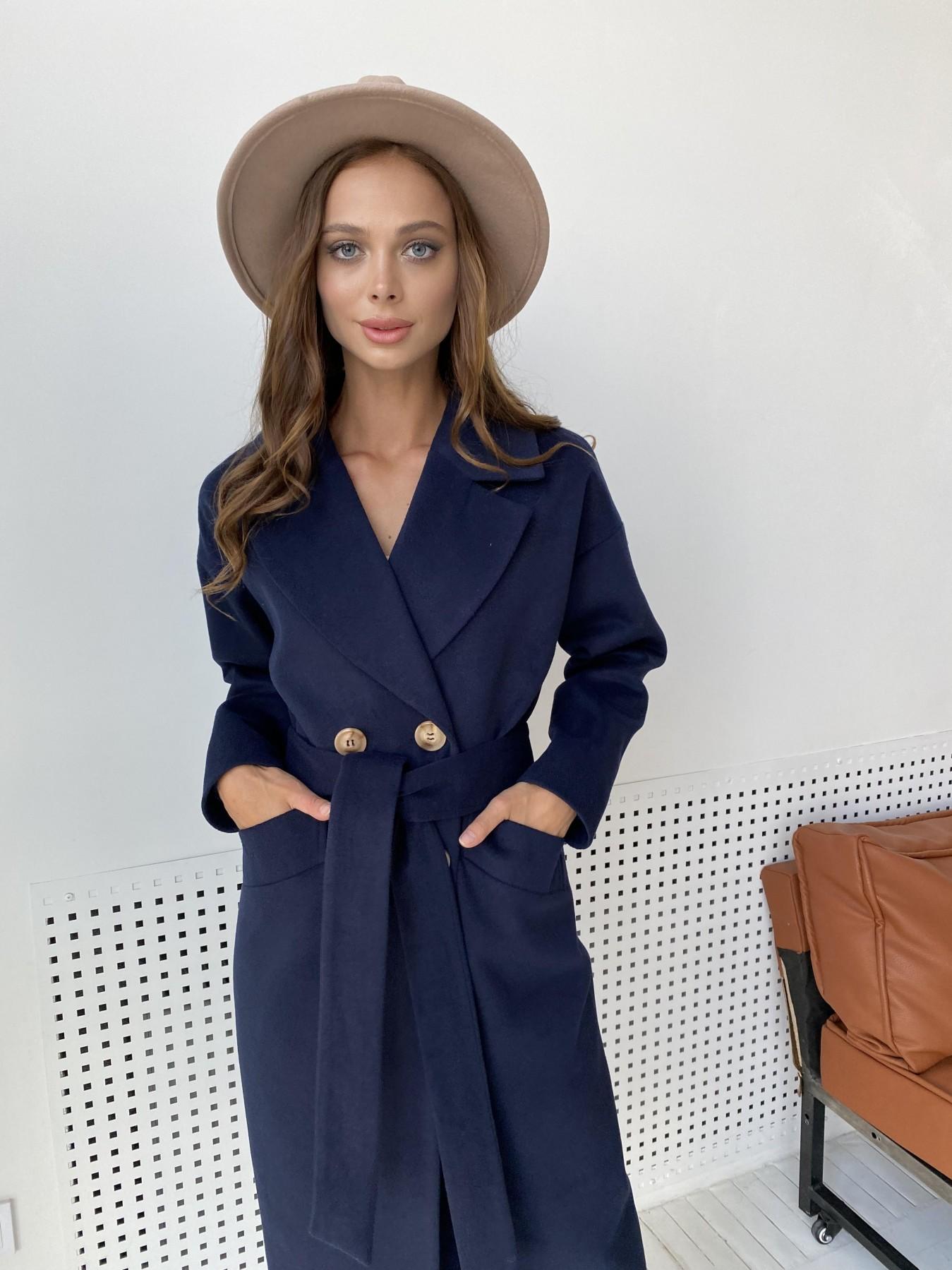 Сенсей пальто макси из кашемира   10309 АРТ. 48360 Цвет: Т.синий - фото 5, интернет магазин tm-modus.ru