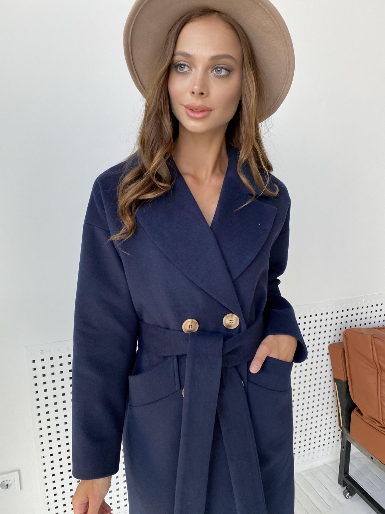 Сенсей пальто макси из кашемира   10309 АРТ. 48360 Цвет: Т.синий - фото 6, интернет магазин tm-modus.ru