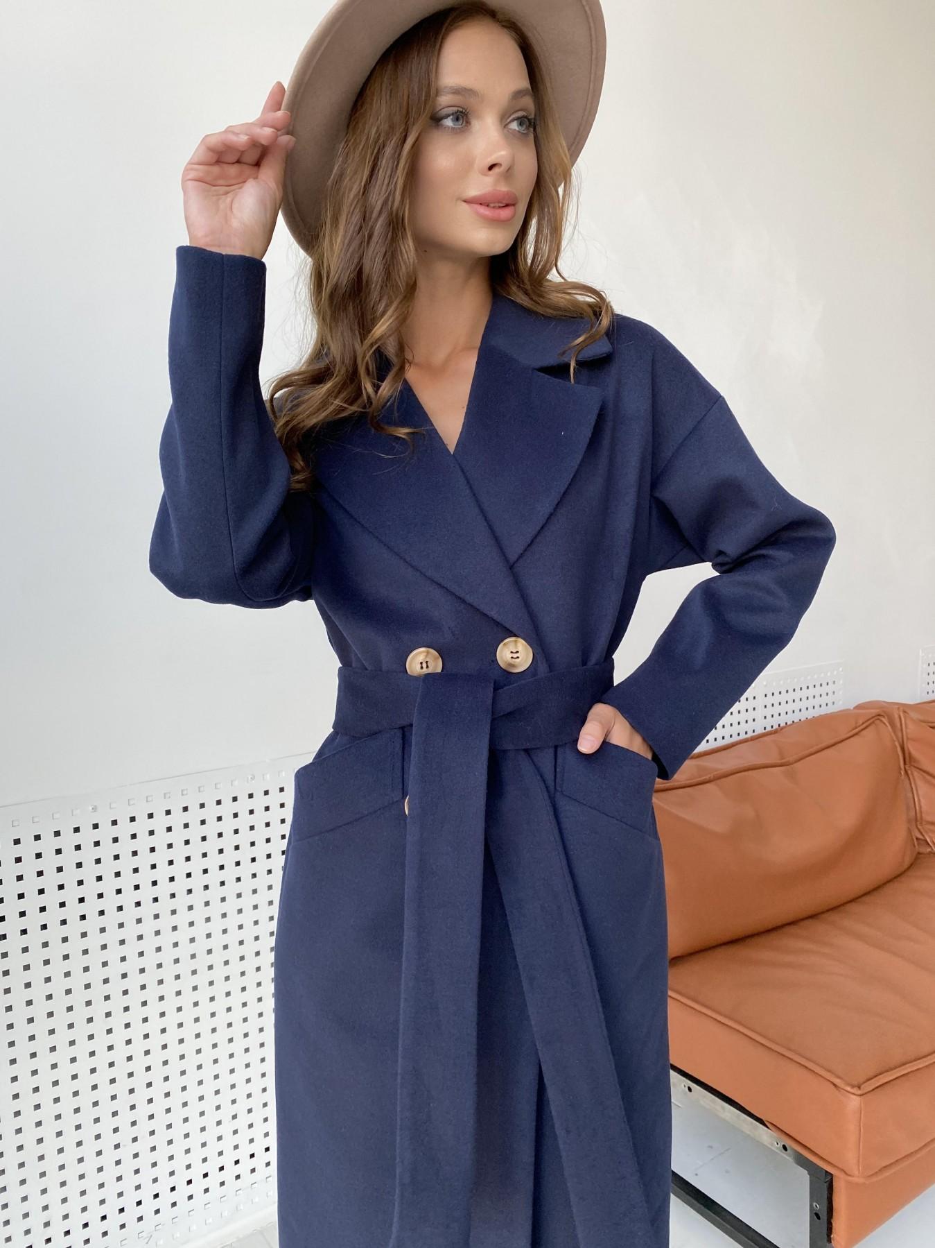 Сенсей пальто макси из кашемира   10309 АРТ. 48360 Цвет: Т.синий - фото 9, интернет магазин tm-modus.ru