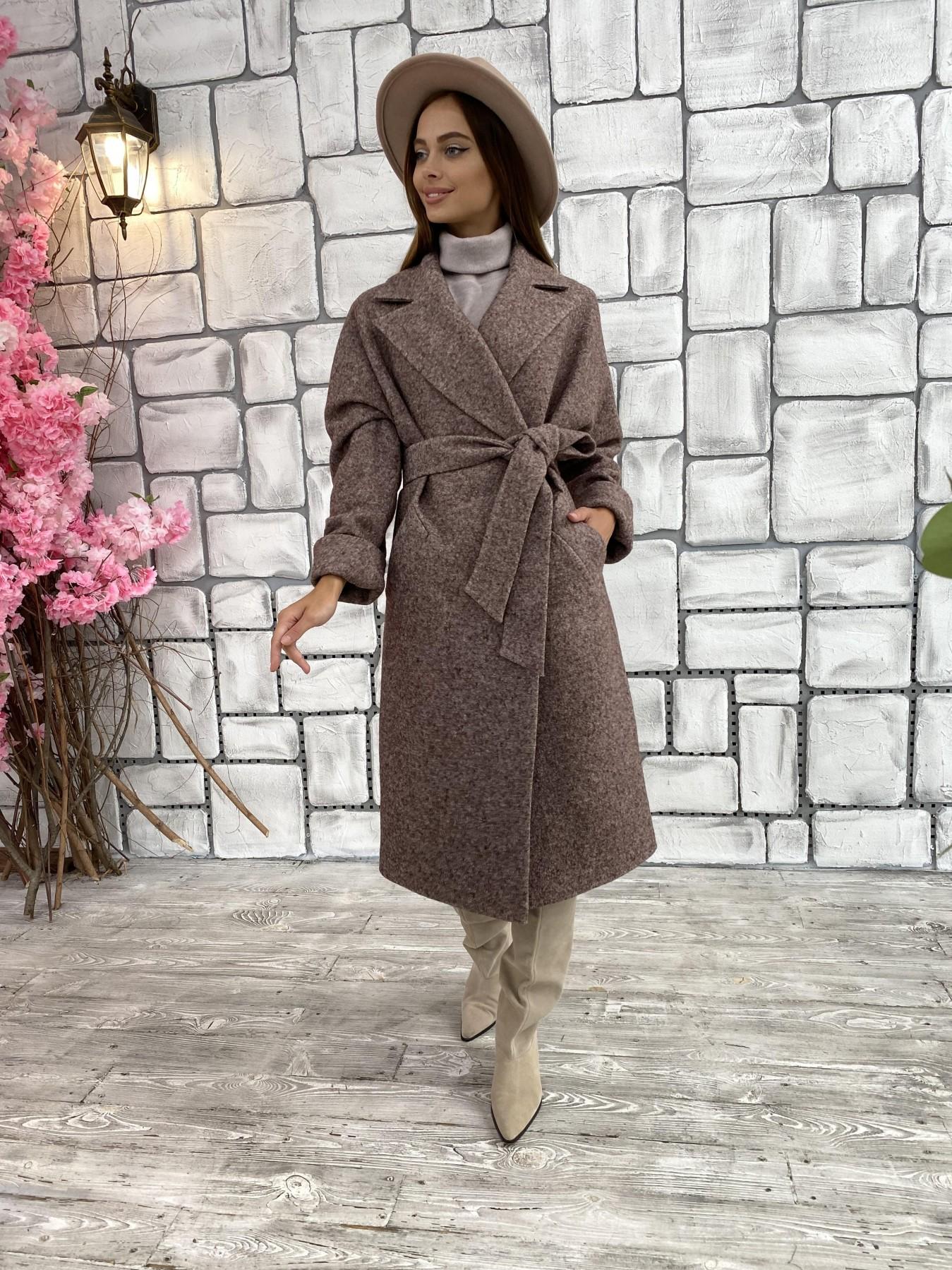 Влада шерсть варенка ткань пальто 11639 АРТ. 48350 Цвет: Кофе - фото 1, интернет магазин tm-modus.ru