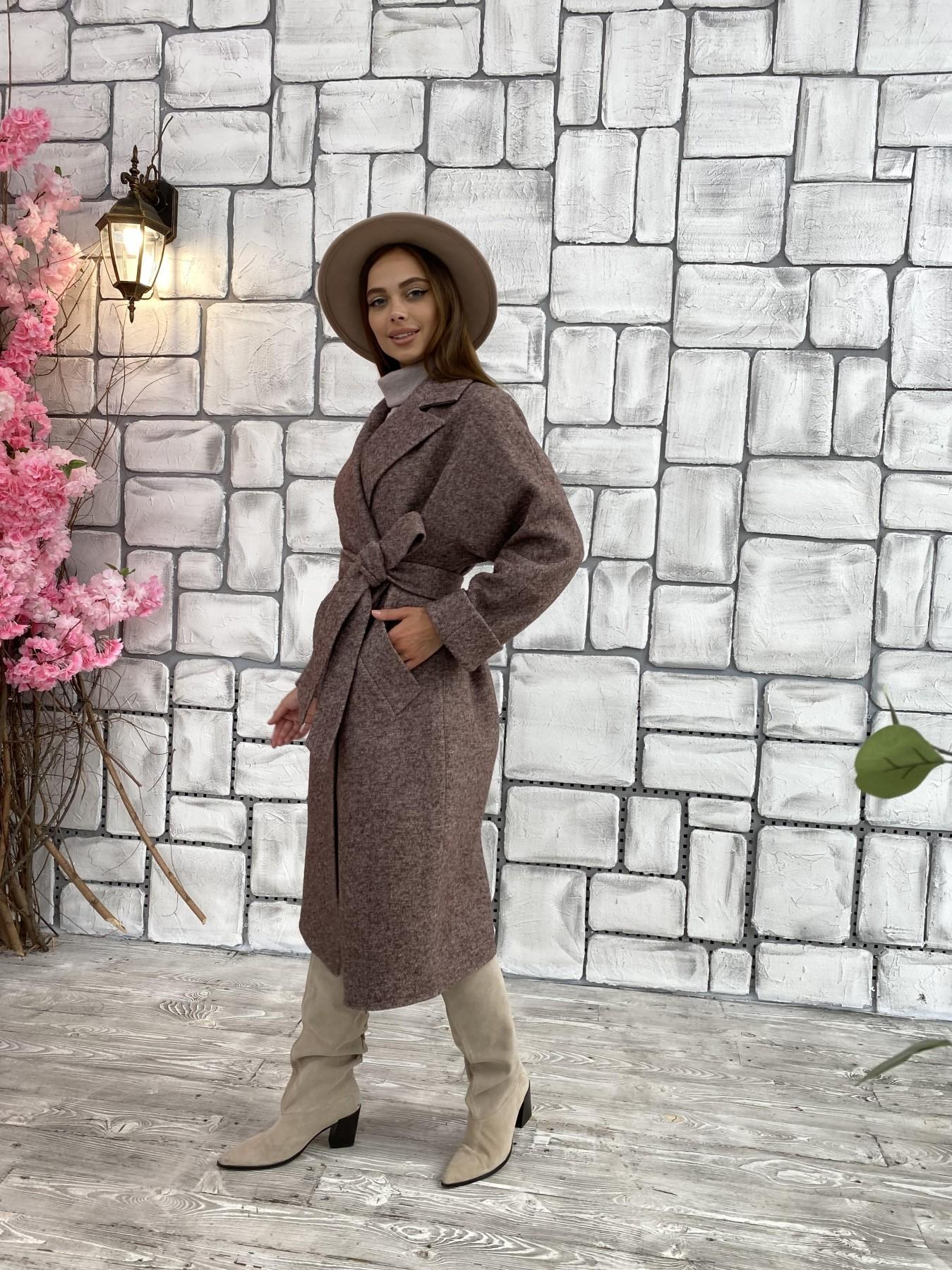 Влада шерсть варенка ткань пальто 11639 АРТ. 48350 Цвет: Кофе - фото 5, интернет магазин tm-modus.ru