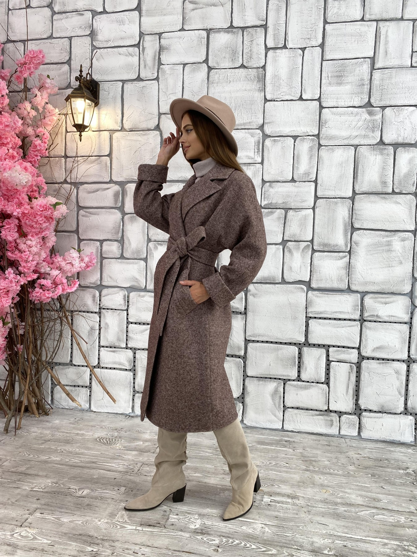 Влада шерсть варенка ткань пальто 11639 АРТ. 48350 Цвет: Кофе - фото 7, интернет магазин tm-modus.ru