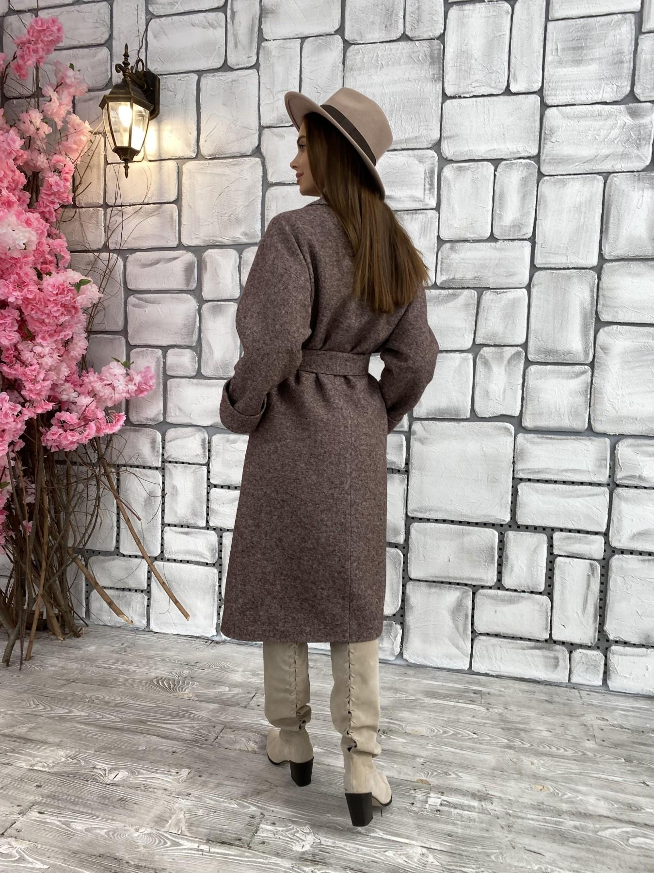 Влада шерсть варенка ткань пальто 11639 АРТ. 48350 Цвет: Кофе - фото 9, интернет магазин tm-modus.ru