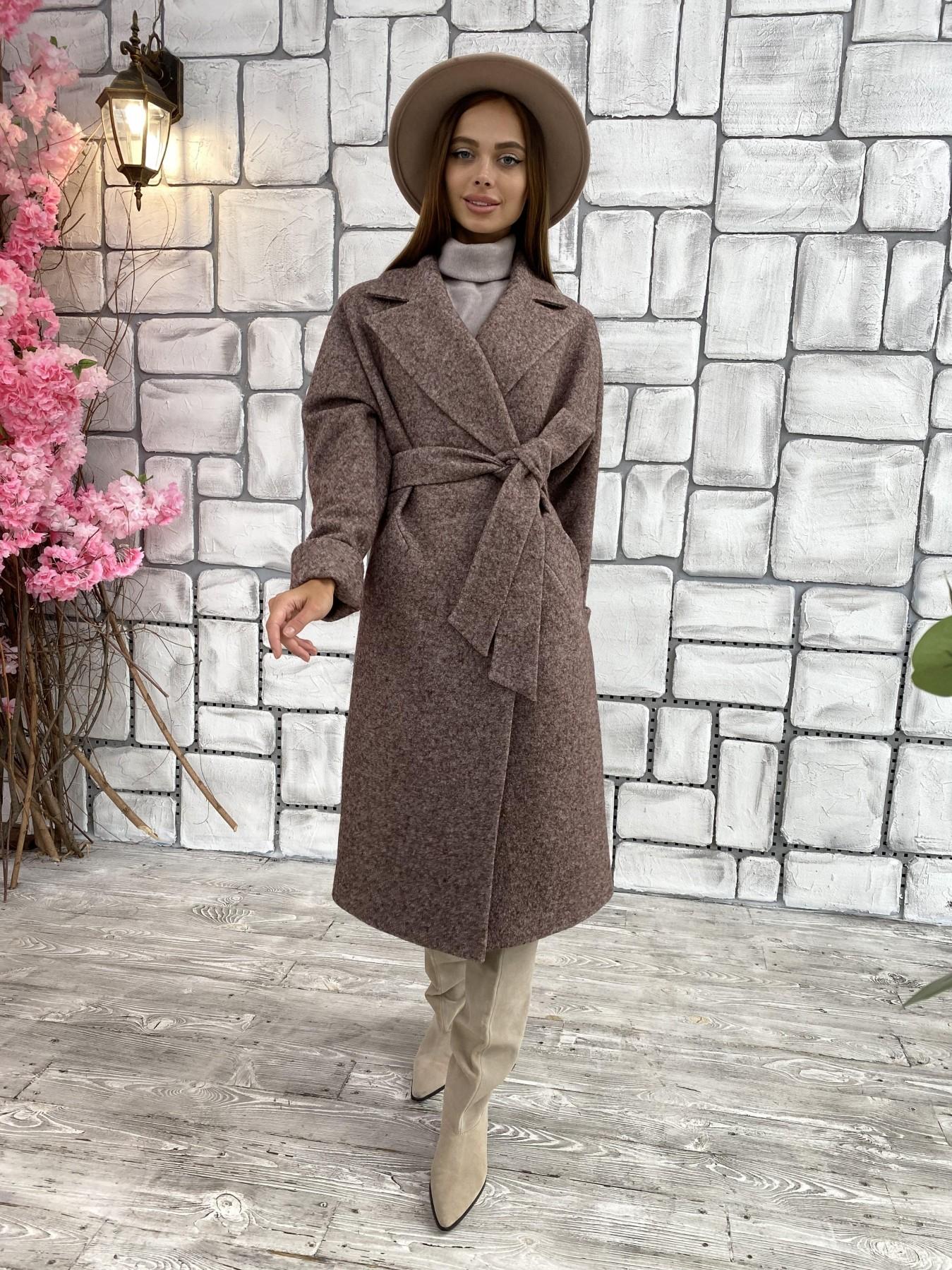 Влада шерсть варенка ткань пальто 11639 АРТ. 48350 Цвет: Кофе - фото 10, интернет магазин tm-modus.ru