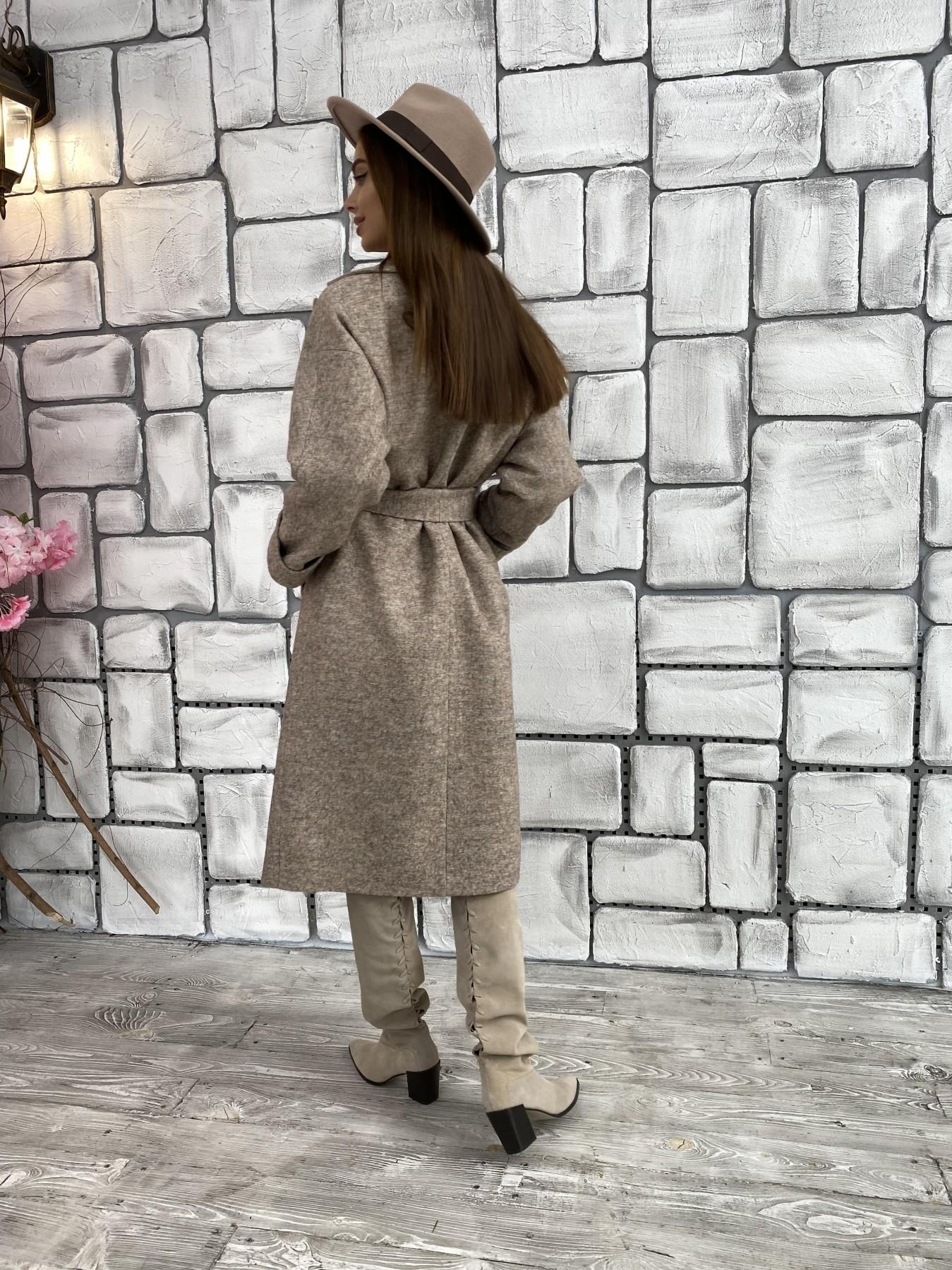 Влада шерсть варенка ткань пальто 11639 АРТ. 48352 Цвет: Бежевый 13 - фото 2, интернет магазин tm-modus.ru