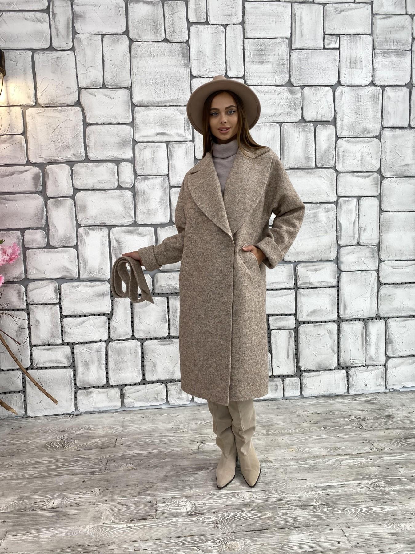 Влада шерсть варенка ткань пальто 11639 АРТ. 48352 Цвет: Бежевый 13 - фото 4, интернет магазин tm-modus.ru