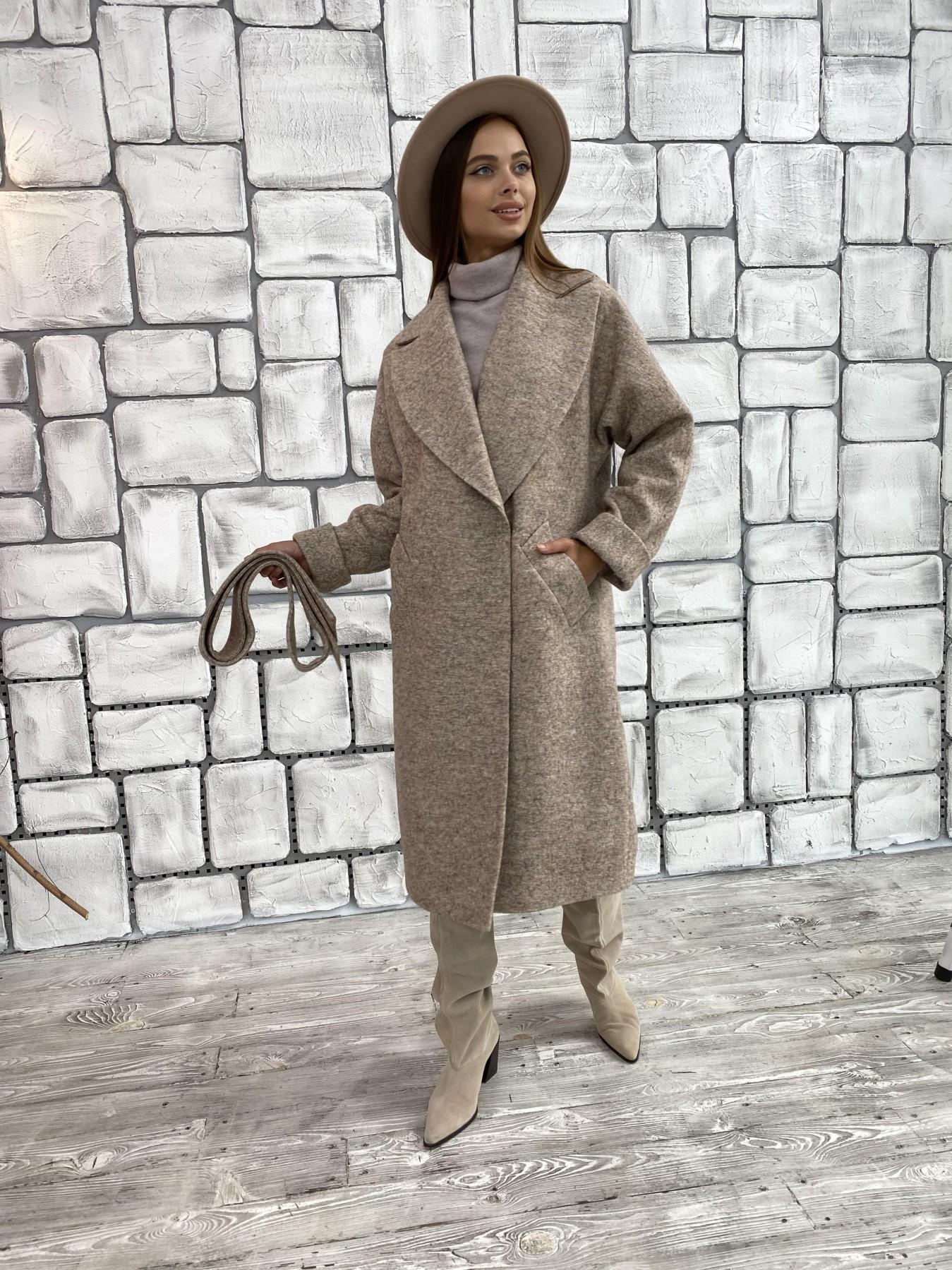 Влада шерсть варенка ткань пальто 11639 АРТ. 48352 Цвет: Бежевый 13 - фото 5, интернет магазин tm-modus.ru