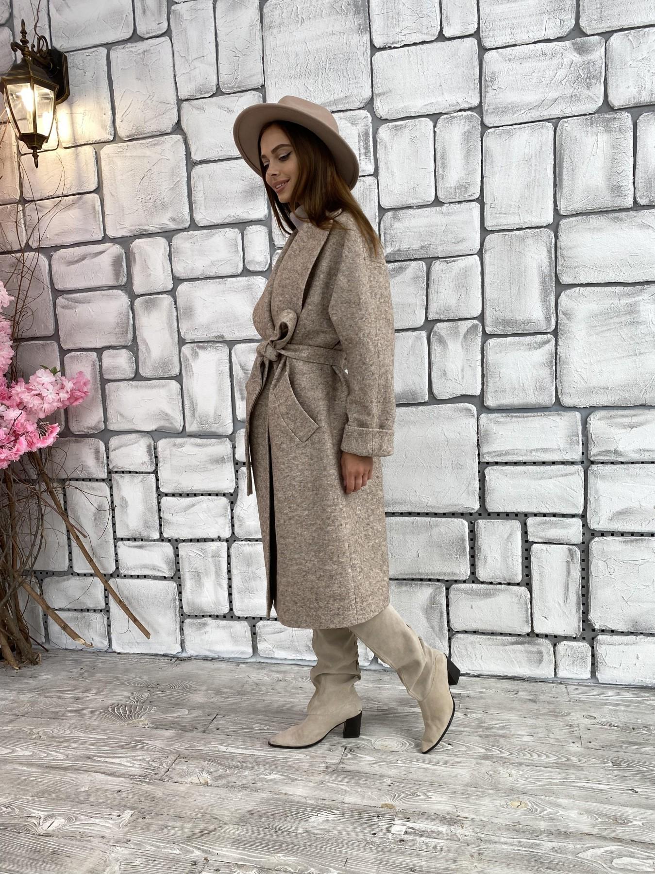 Влада шерсть варенка ткань пальто 11639 АРТ. 48352 Цвет: Бежевый 13 - фото 3, интернет магазин tm-modus.ru