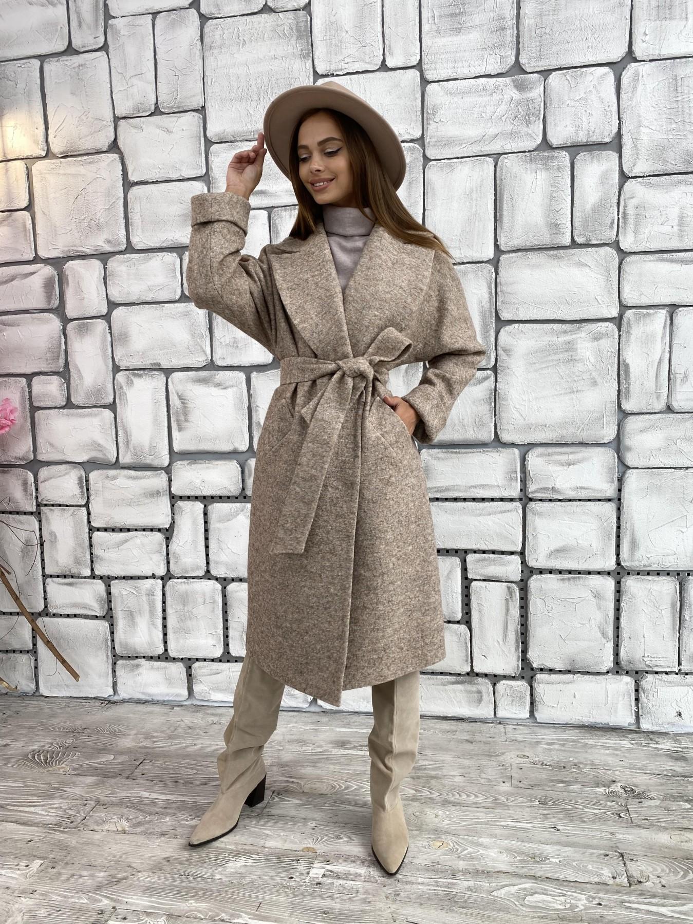 Влада шерсть варенка ткань пальто 11639 АРТ. 48352 Цвет: Бежевый 13 - фото 6, интернет магазин tm-modus.ru