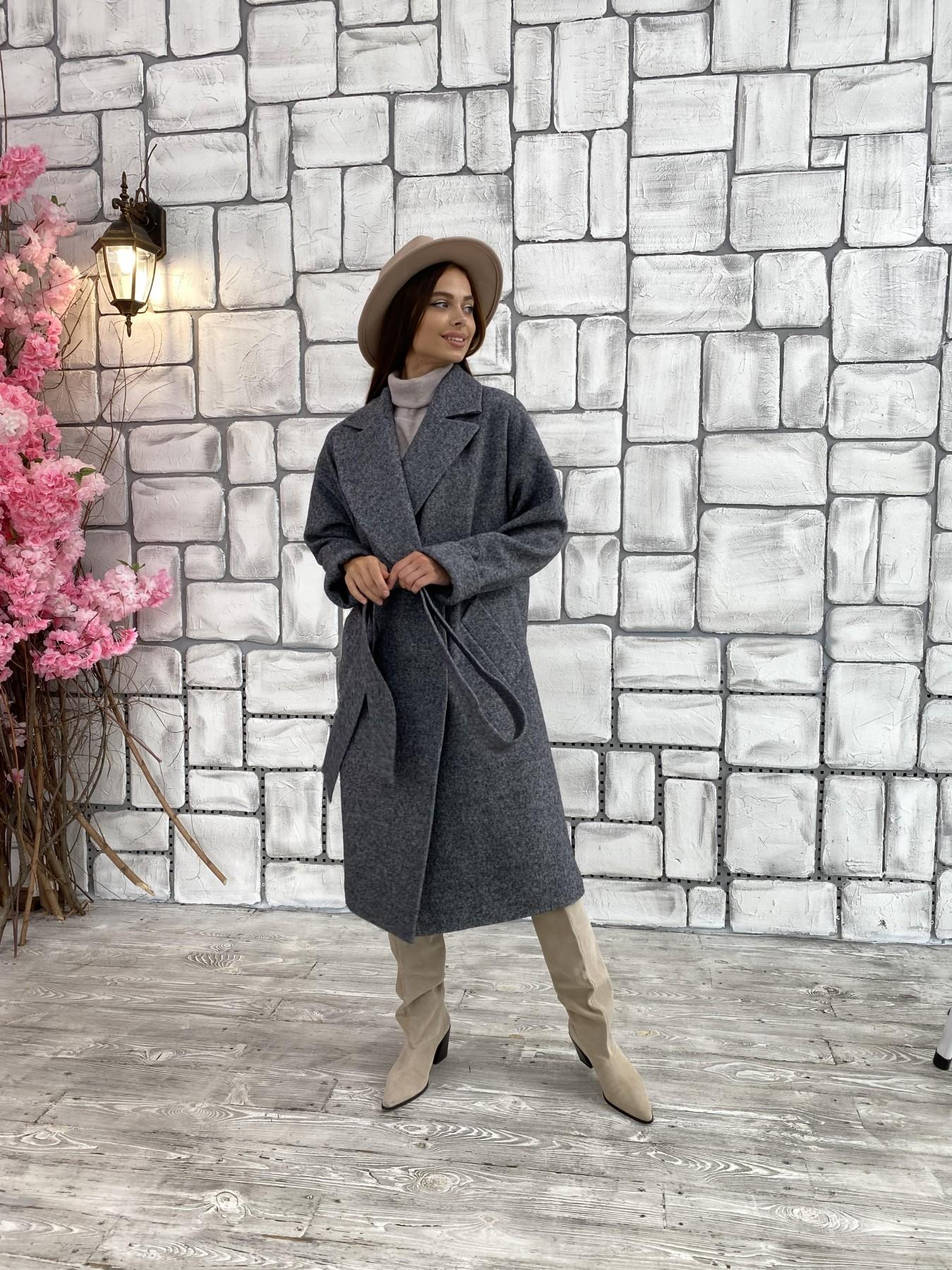 Влада шерсть варенка ткань пальто 11639 АРТ. 48351 Цвет: Серый темный 5 - фото 2, интернет магазин tm-modus.ru
