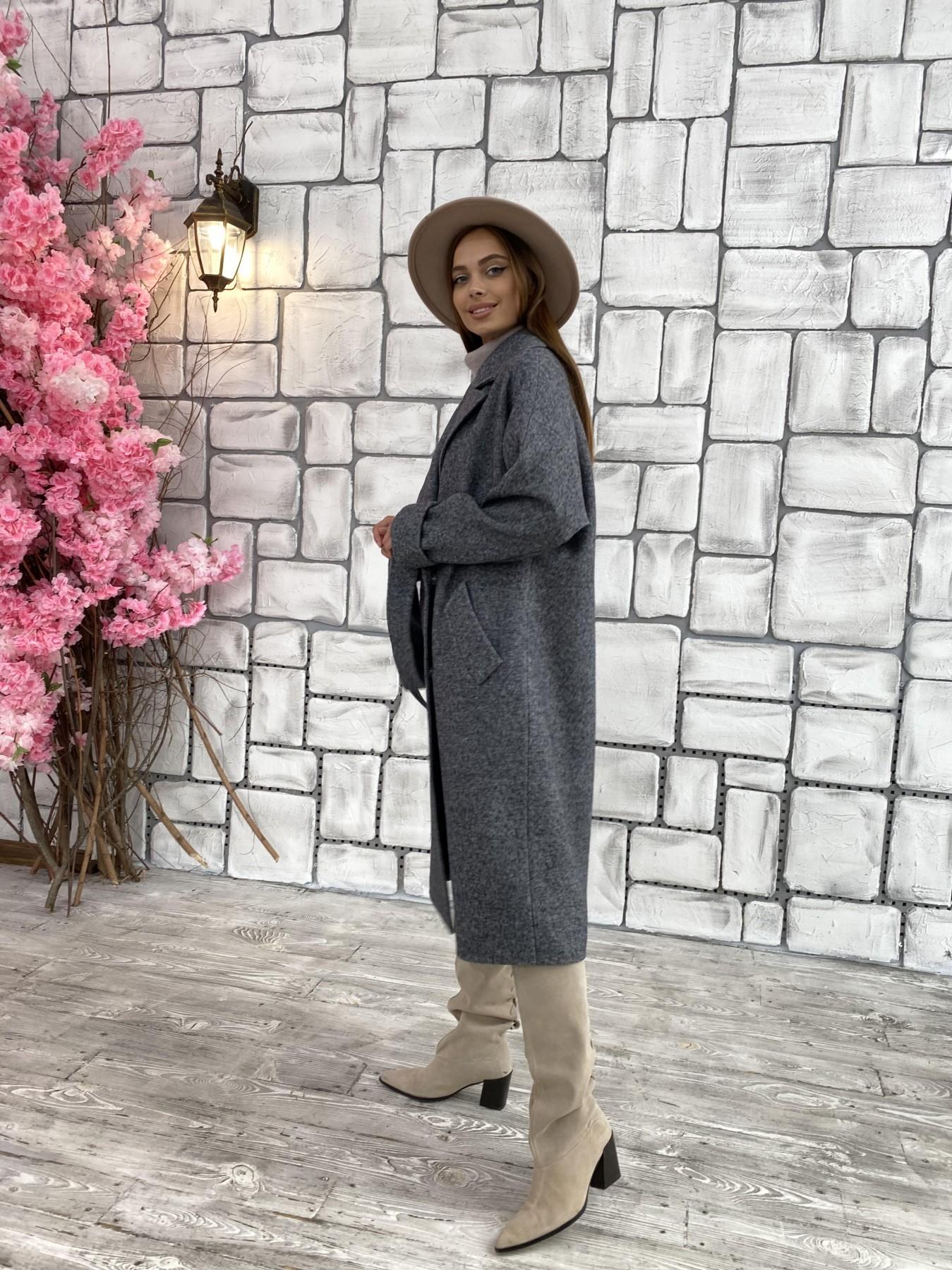 Влада шерсть варенка ткань пальто 11639 АРТ. 48351 Цвет: Серый темный 5 - фото 3, интернет магазин tm-modus.ru
