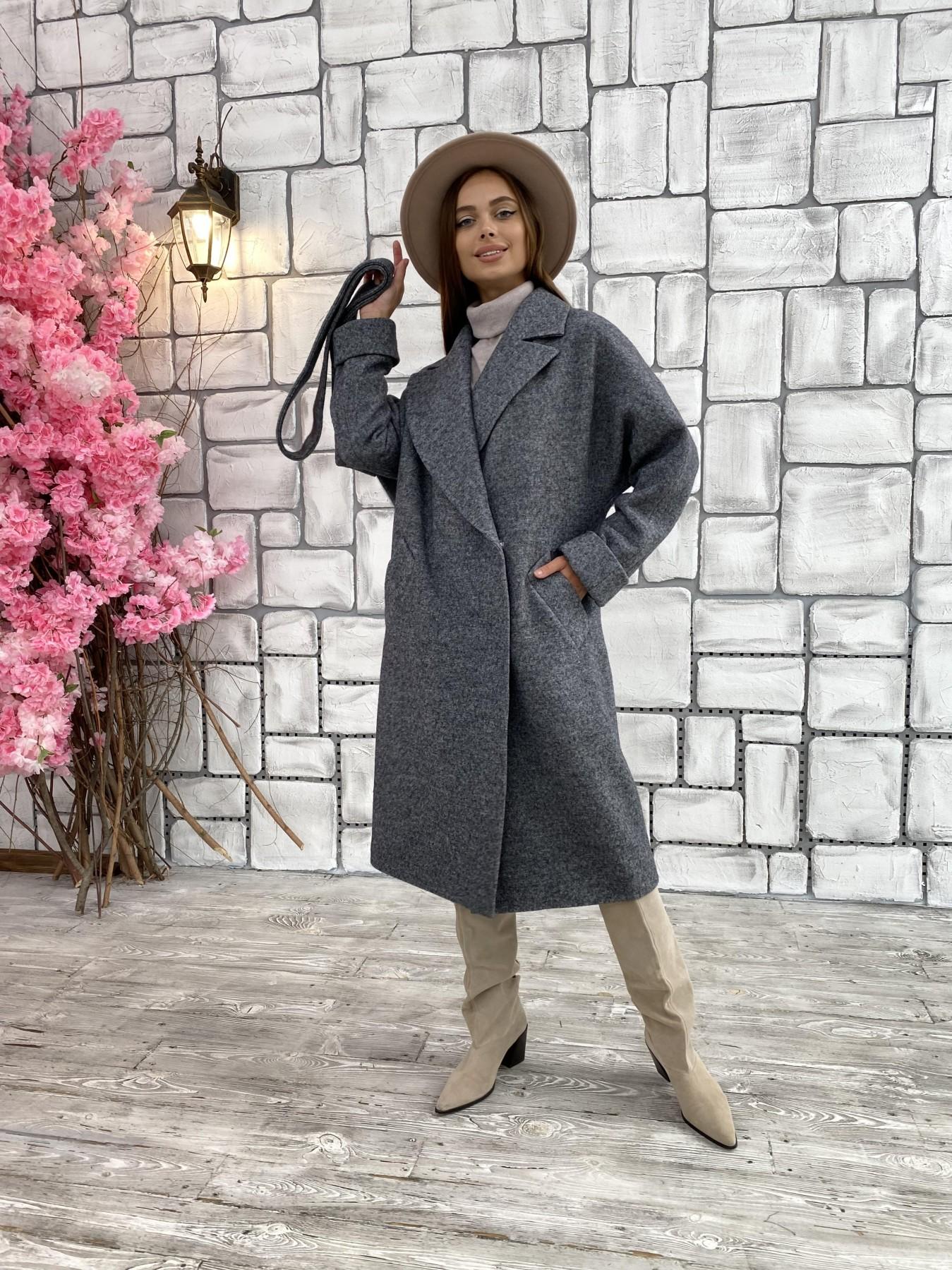 Влада шерсть варенка ткань пальто 11639 АРТ. 48351 Цвет: Серый темный 5 - фото 4, интернет магазин tm-modus.ru