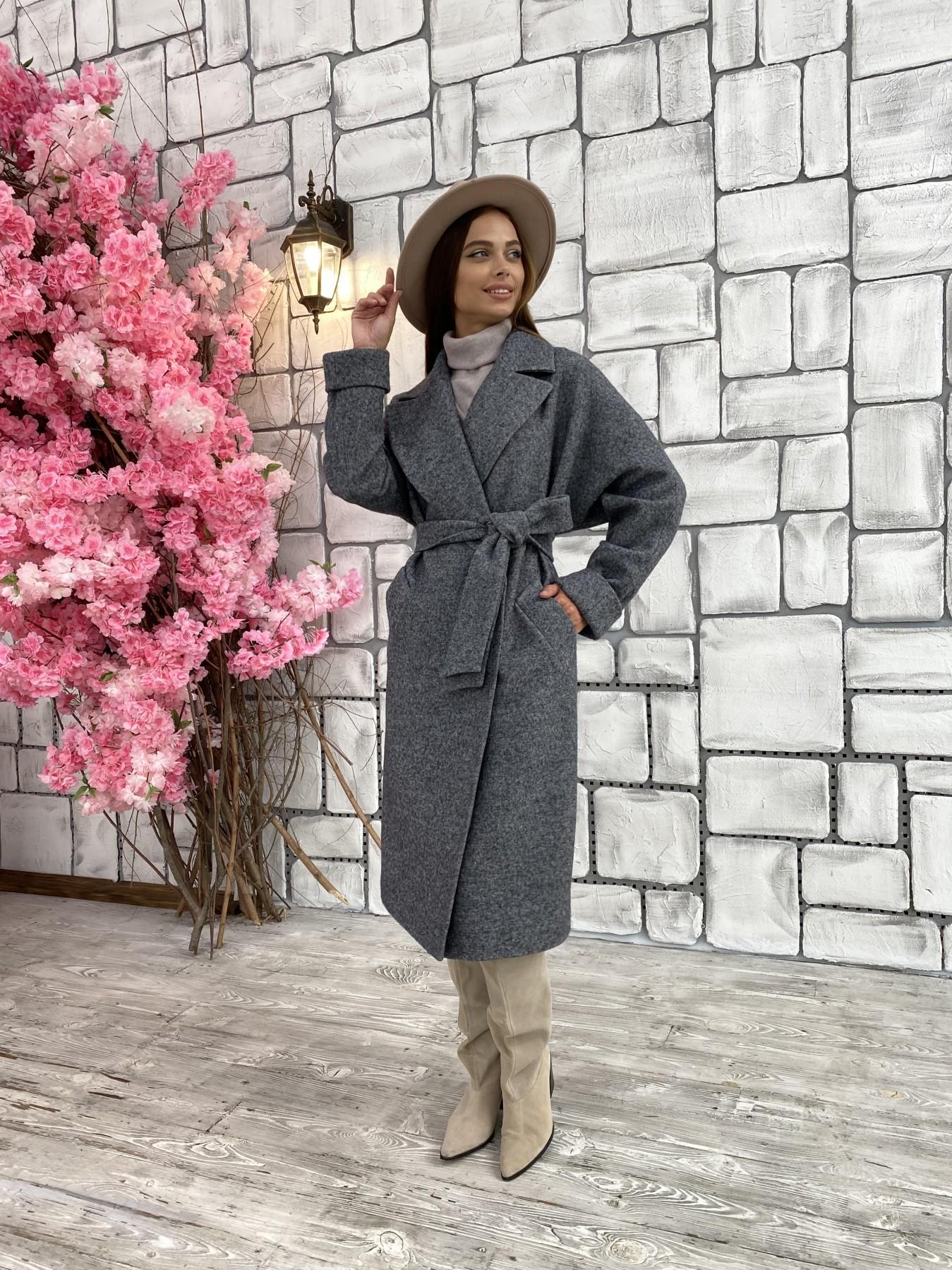 Влада шерсть варенка ткань пальто 11639 АРТ. 48351 Цвет: Серый темный 5 - фото 5, интернет магазин tm-modus.ru