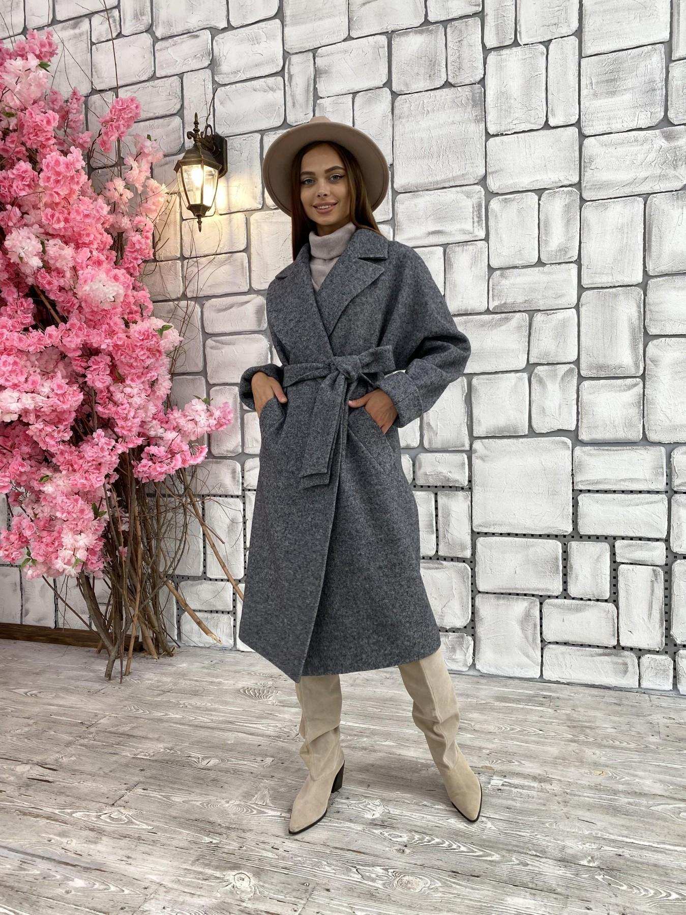 Влада шерсть варенка ткань пальто 11639 АРТ. 48351 Цвет: Серый темный 5 - фото 6, интернет магазин tm-modus.ru