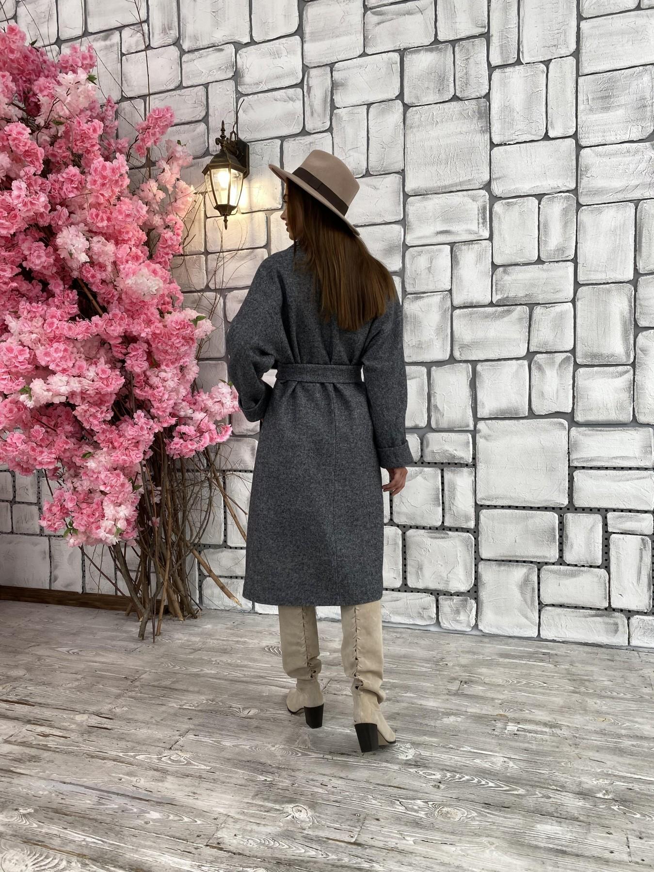 Влада шерсть варенка ткань пальто 11639 АРТ. 48351 Цвет: Серый темный 5 - фото 7, интернет магазин tm-modus.ru
