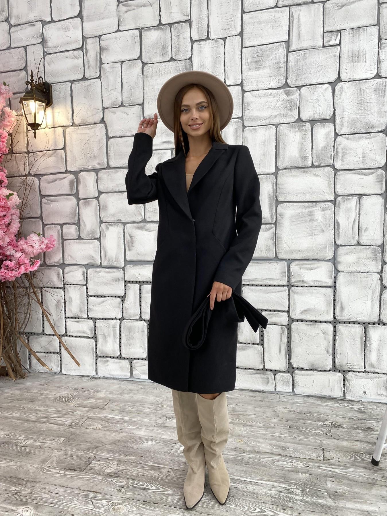 Мехико кашемир гладкий пальто 11643 АРТ. 48353 Цвет: Черный - фото 4, интернет магазин tm-modus.ru