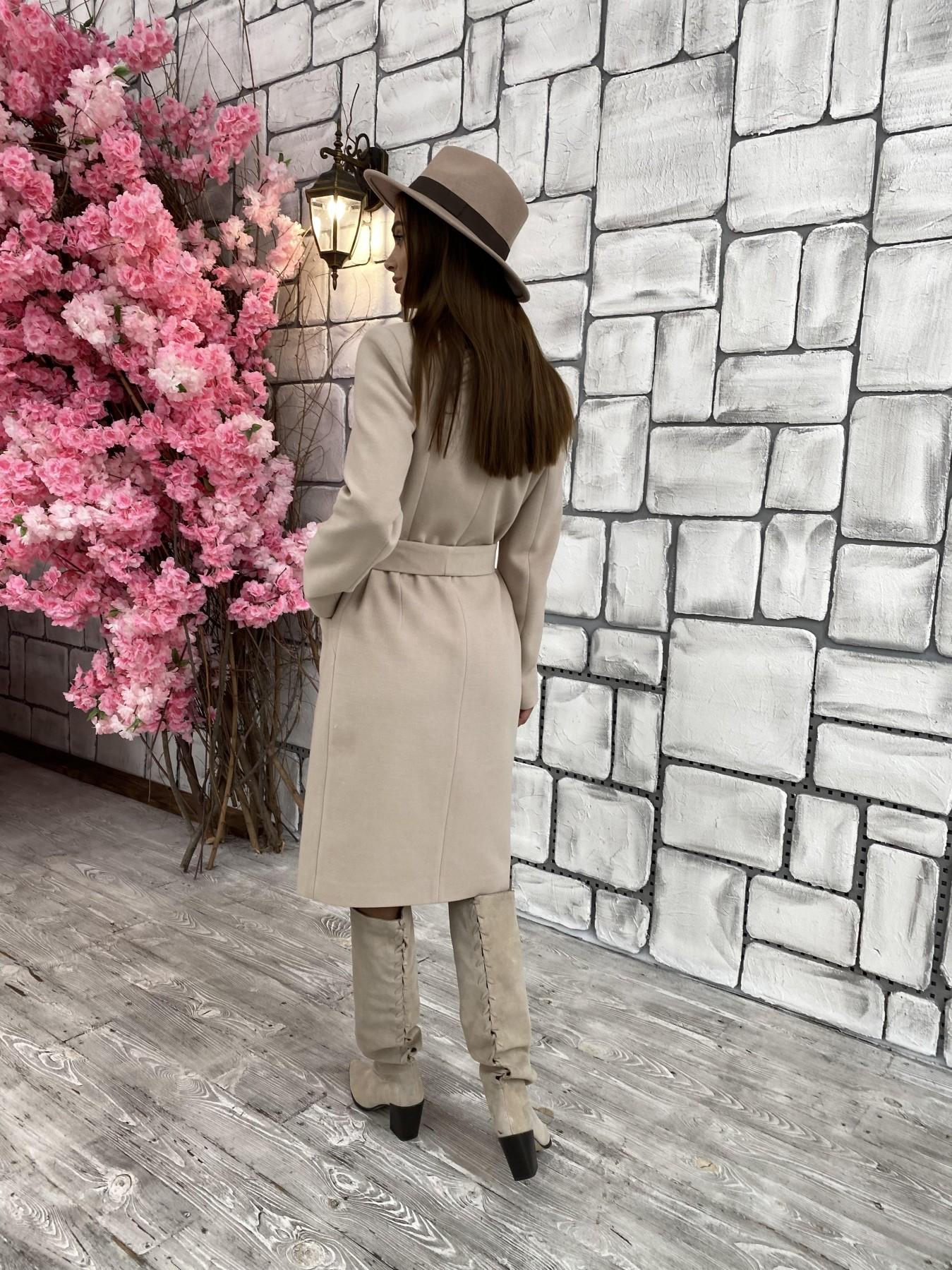 Мехико кашемир гладкий пальто 11643 АРТ. 48354 Цвет: Бежевый - фото 4, интернет магазин tm-modus.ru