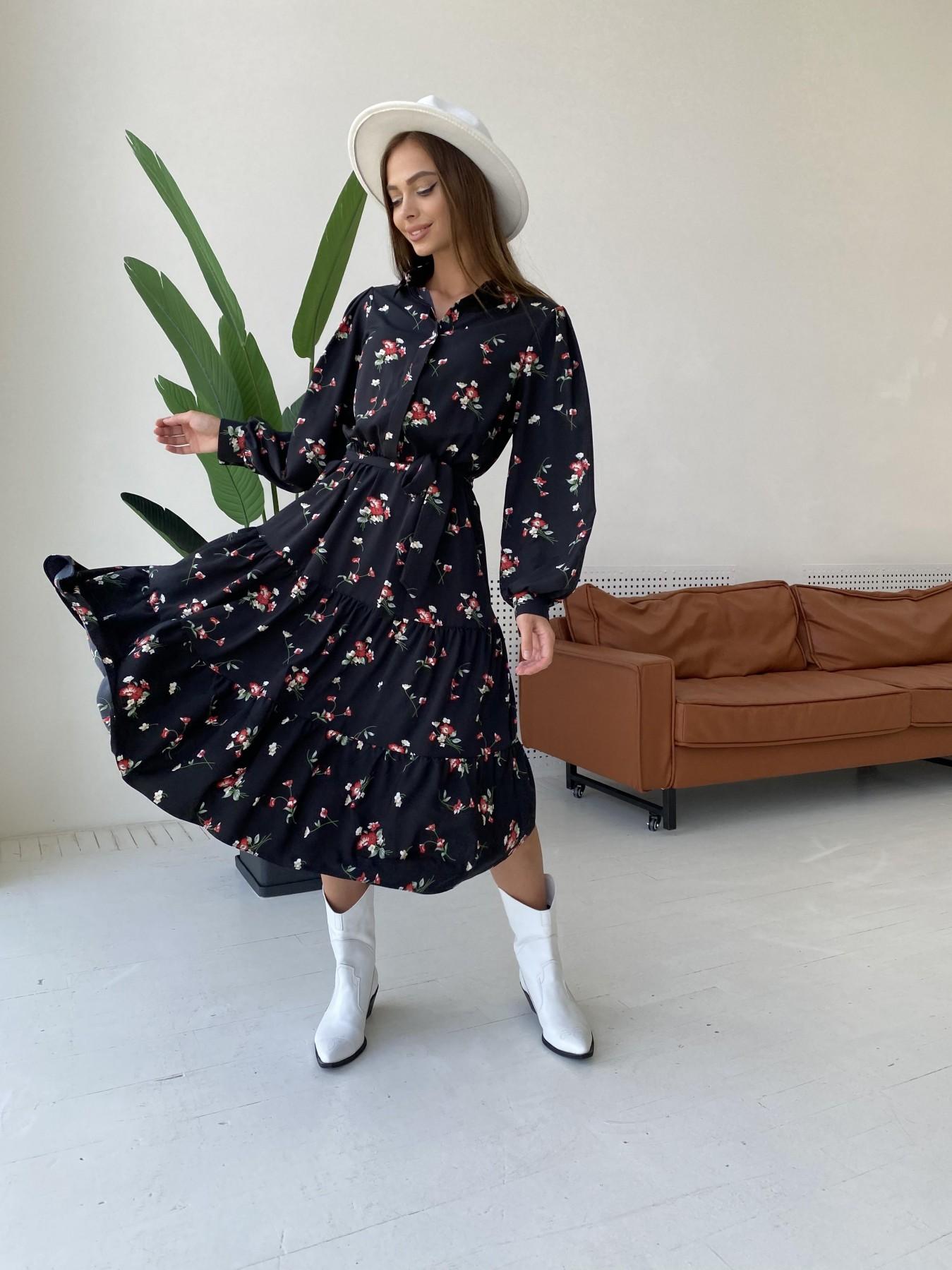 Платья от украинского производителя Лилия д/р софт принт стрейч платье 11708