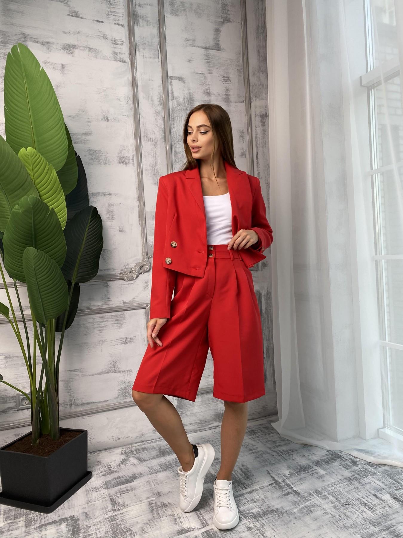 Оксфорд костюм из костюмной ткани стрейч 11548 АРТ. 48400 Цвет: Красный - фото 1, интернет магазин tm-modus.ru