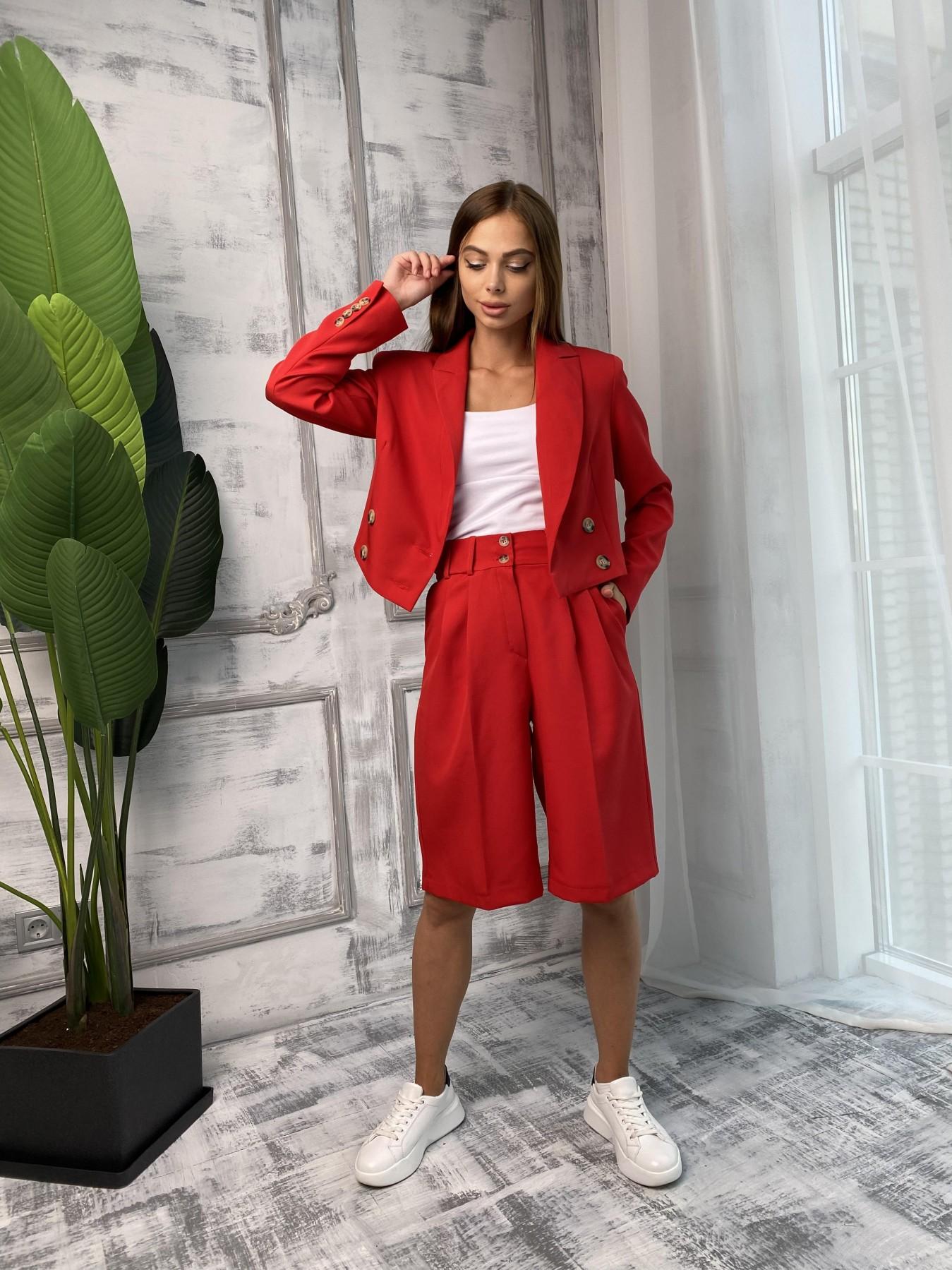 Оксфорд костюм из костюмной ткани стрейч 11548 АРТ. 48400 Цвет: Красный - фото 2, интернет магазин tm-modus.ru