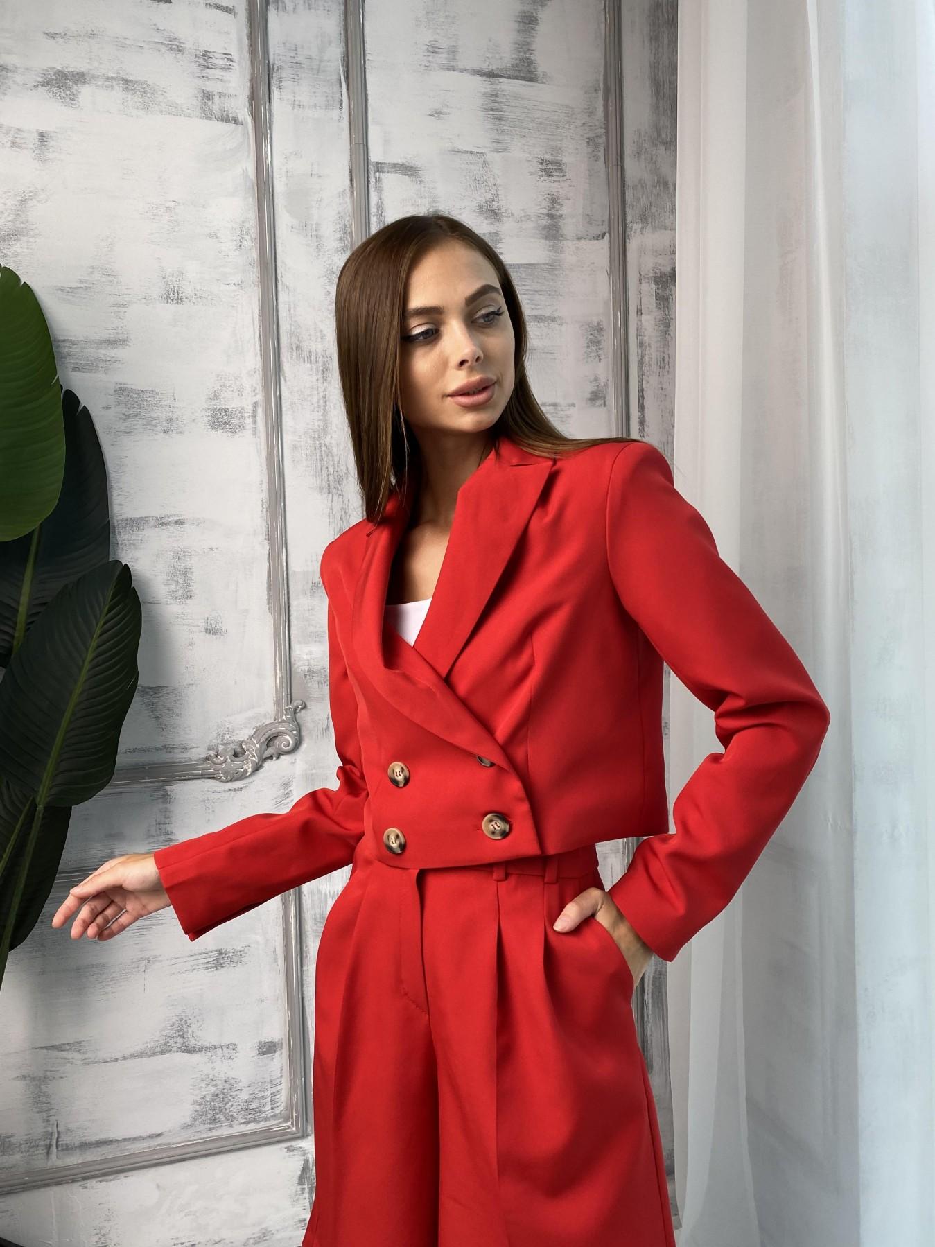 Оксфорд костюм из костюмной ткани стрейч 11548 АРТ. 48400 Цвет: Красный - фото 3, интернет магазин tm-modus.ru