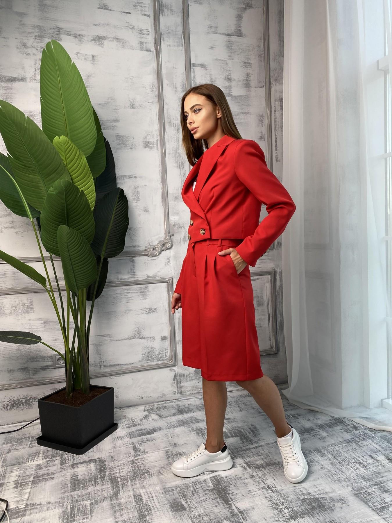 Оксфорд костюм из костюмной ткани стрейч 11548 АРТ. 48400 Цвет: Красный - фото 4, интернет магазин tm-modus.ru