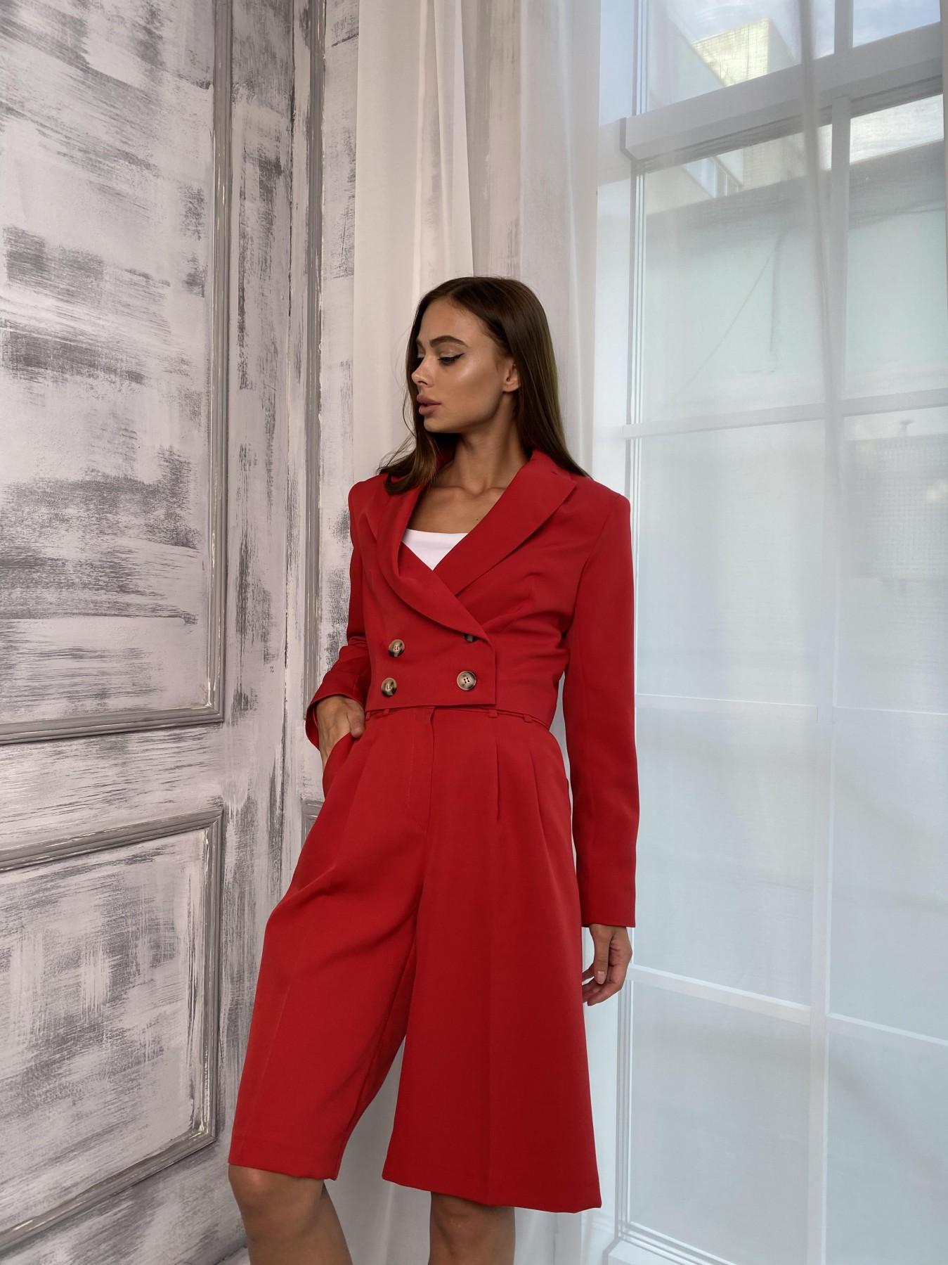 Оксфорд костюм из костюмной ткани стрейч 11548 АРТ. 48400 Цвет: Красный - фото 5, интернет магазин tm-modus.ru