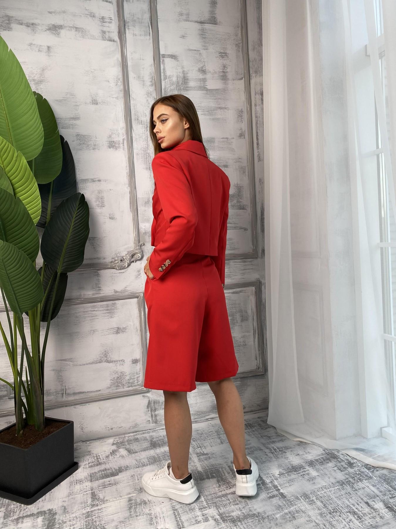 Оксфорд костюм из костюмной ткани стрейч 11548 АРТ. 48400 Цвет: Красный - фото 7, интернет магазин tm-modus.ru