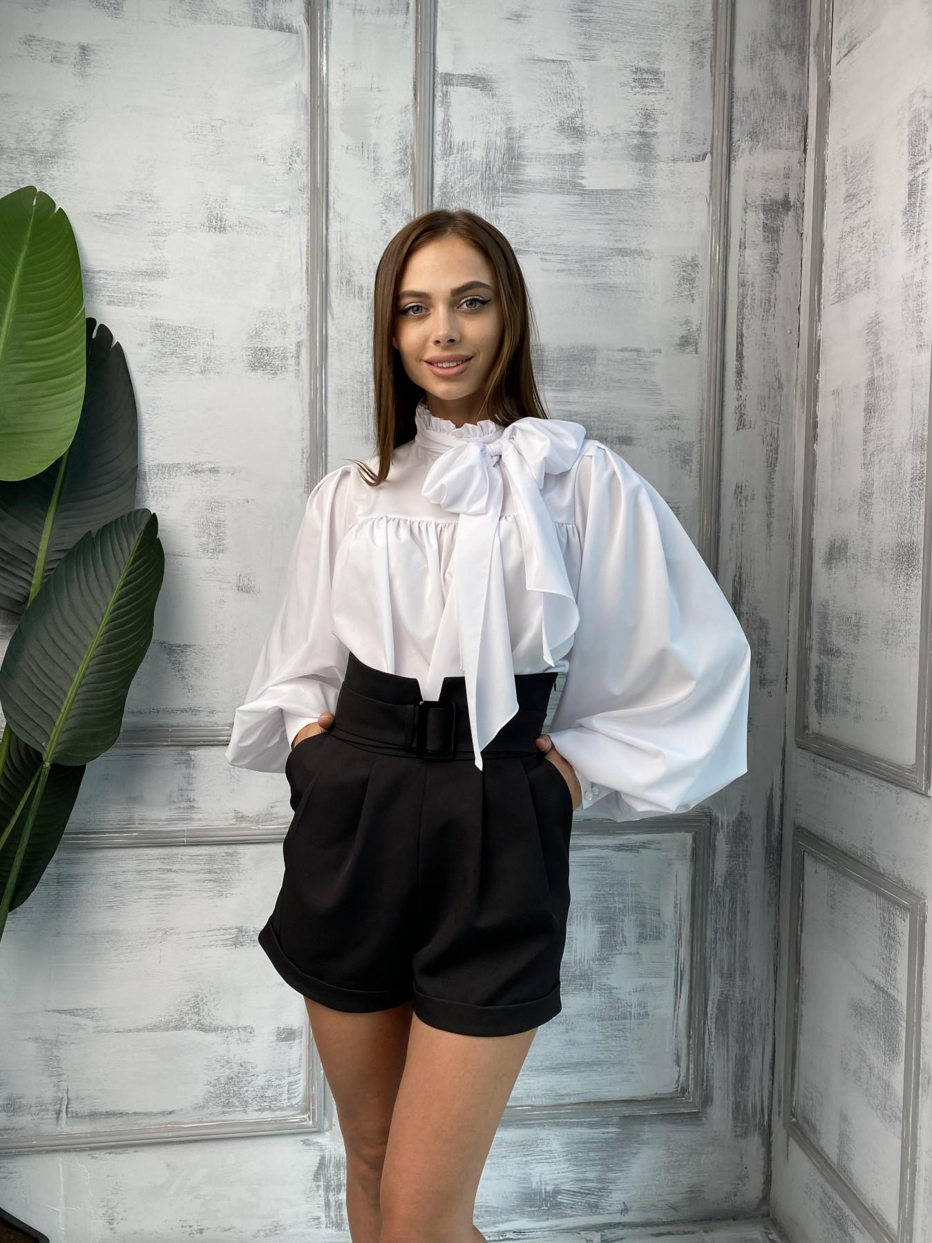 Бостон шорты костюмка креп стрейч 11676 АРТ. 48384 Цвет: Черный - фото 7, интернет магазин tm-modus.ru
