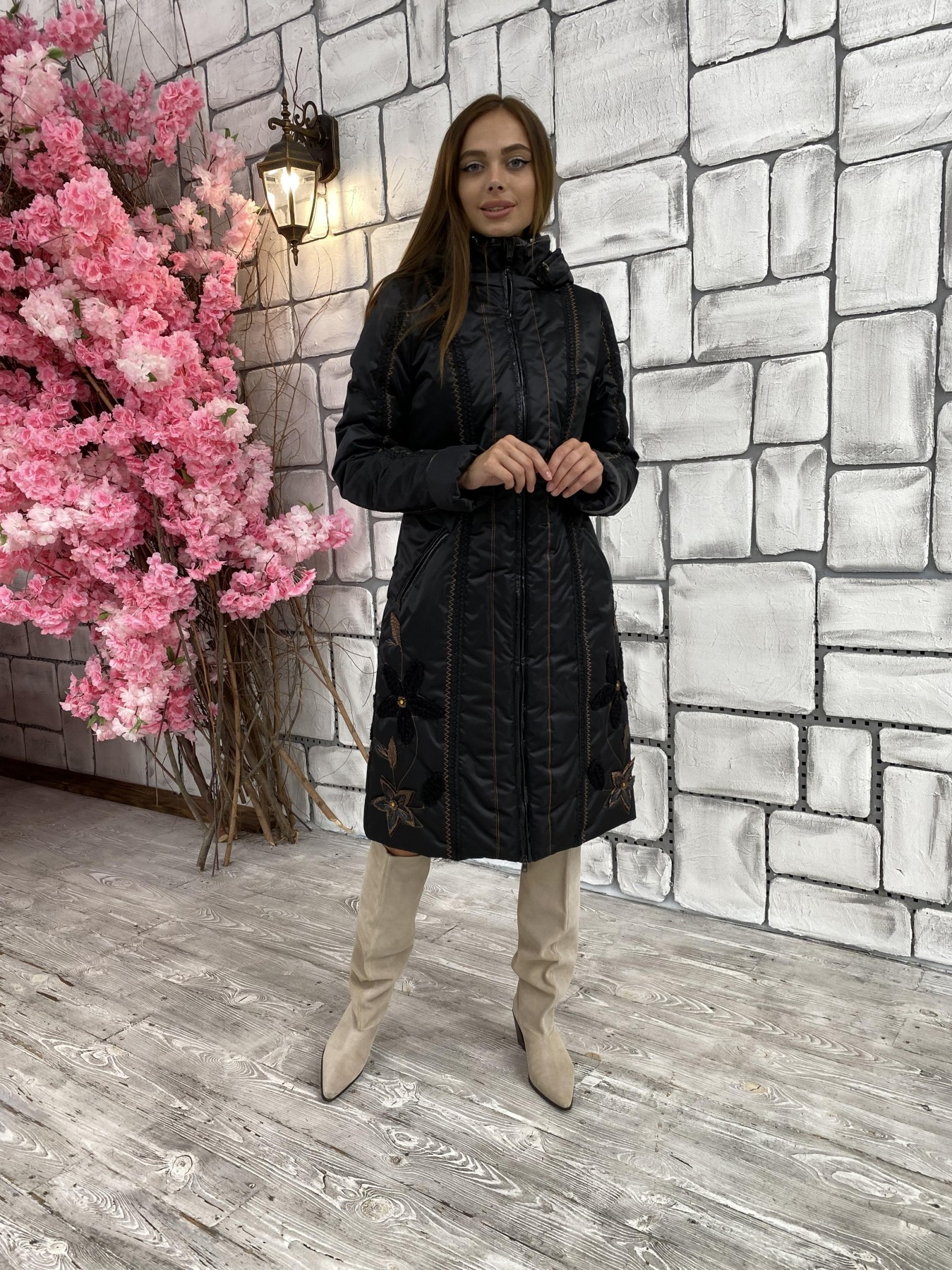 Ромашка плащевка пальто Зима
