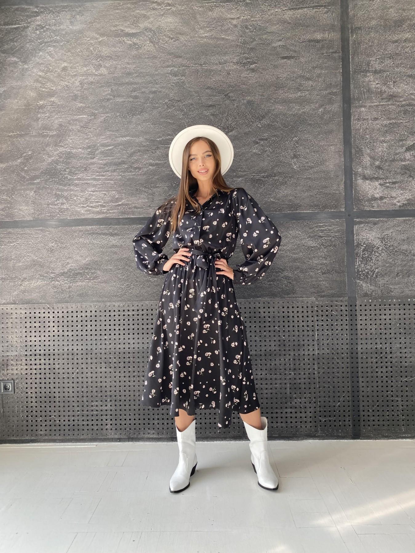 Купить платье оптом Украина Modus Жасмин д/р шелк принт платье 11716