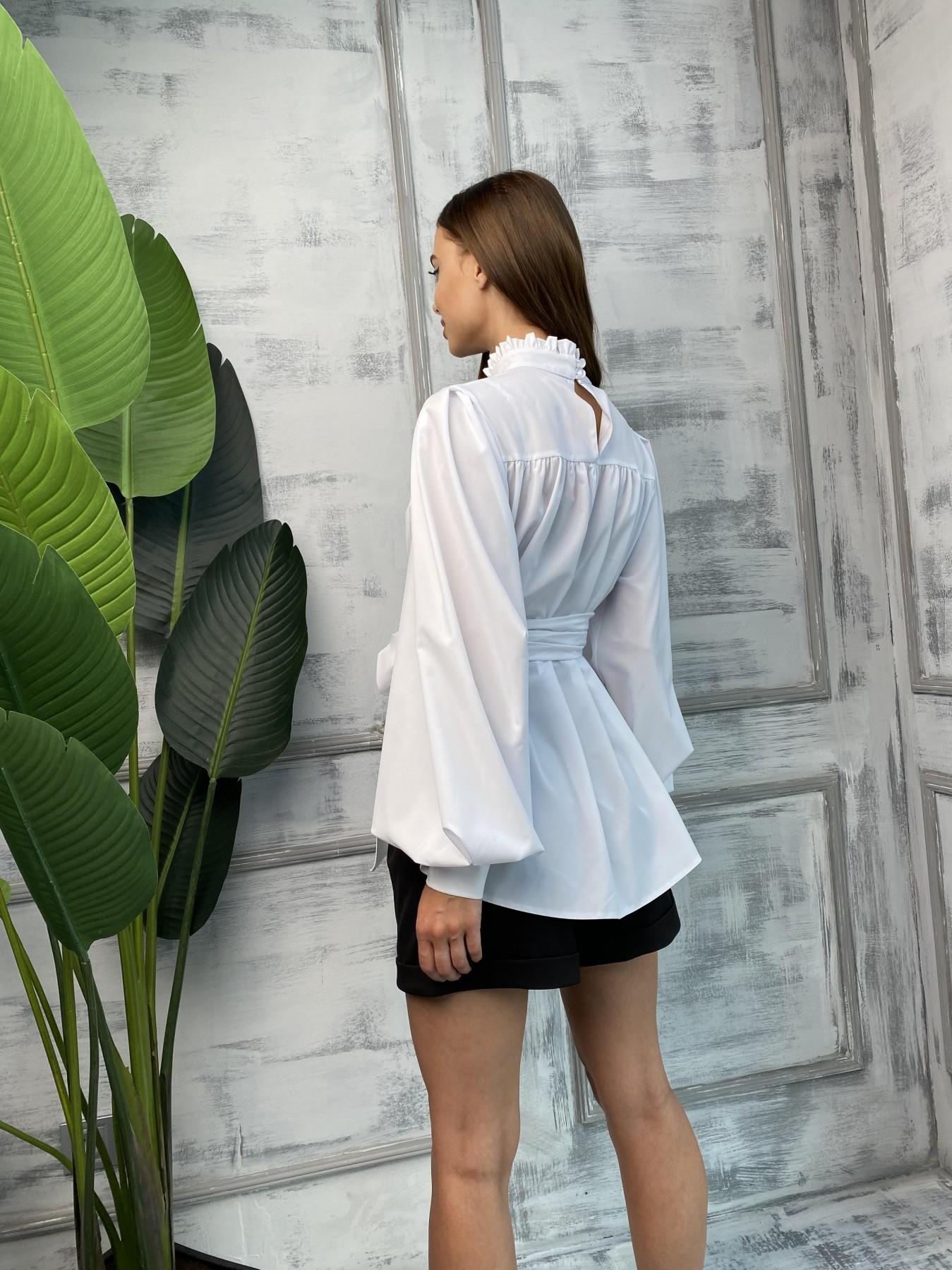 Аметист Д/р софт однотонный блуза 11693 АРТ. 48397 Цвет: Белый - фото 3, интернет магазин tm-modus.ru
