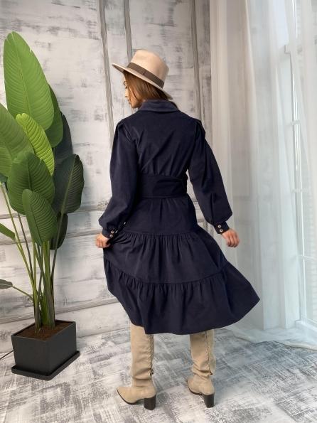 """Купить """"Лилия"""" микровельвет платье 9679 оптом и в розницу"""