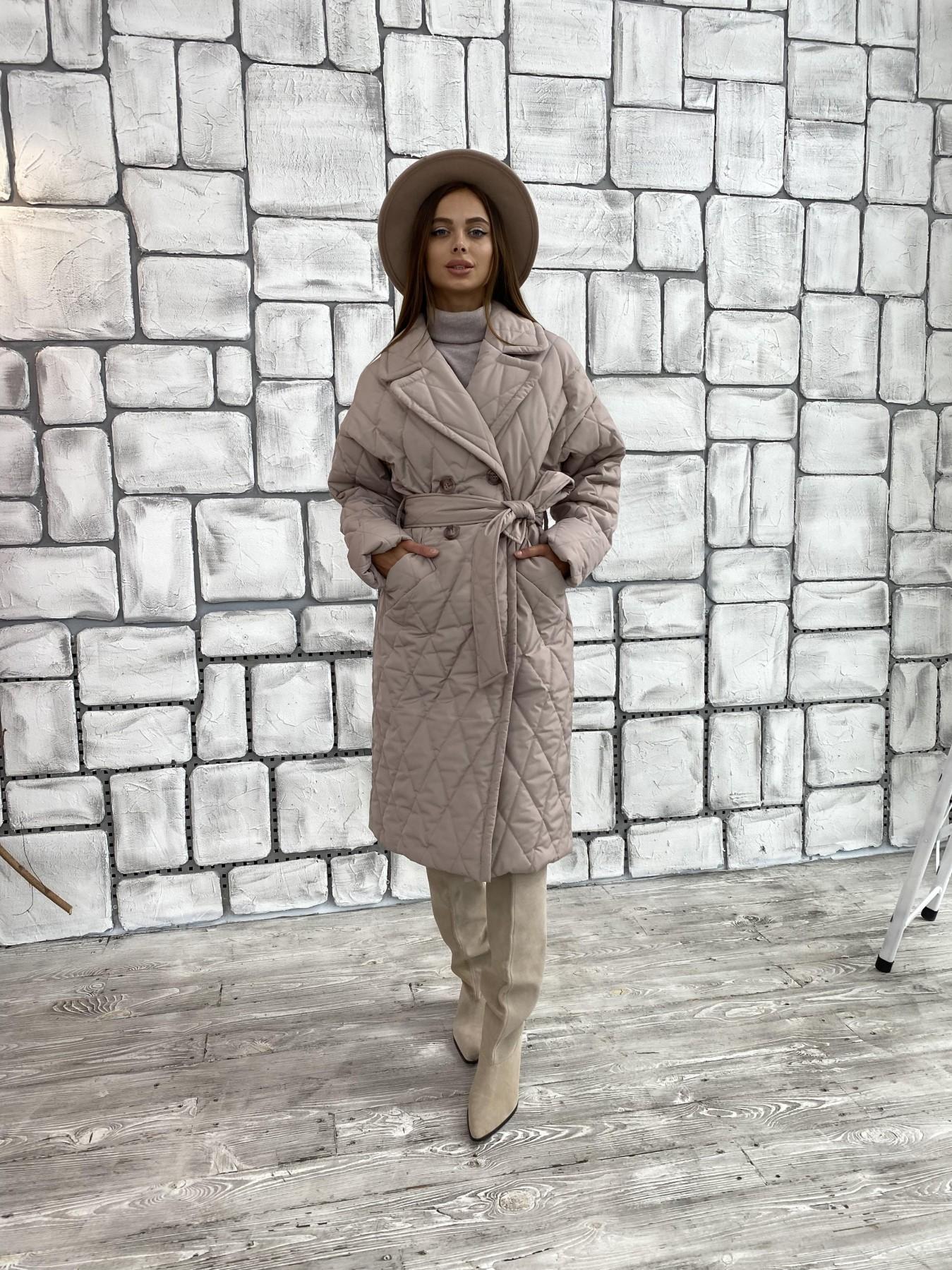 Хаски пальто из стеганой плащевки в ромб 11697