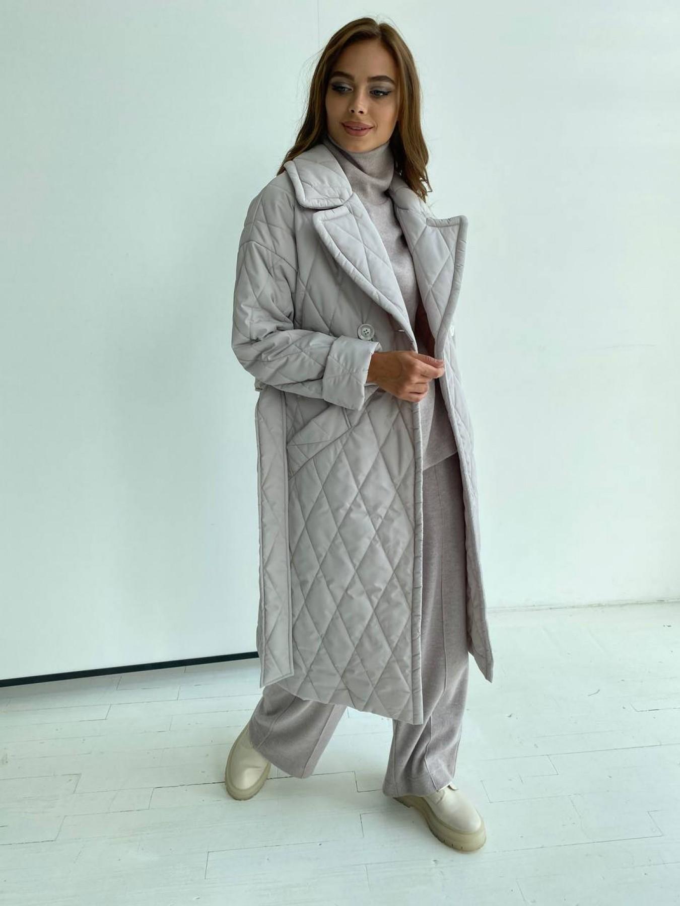 Хаски пальто из стеганой плащевки в ромб 11697 АРТ. 48513 Цвет: Бежевый 971 - фото 6, интернет магазин tm-modus.ru