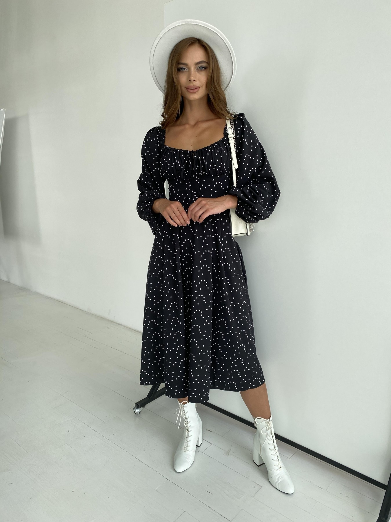 Купить платье в Харькове Кисес миди д/р софт принт стрейч платье 11732