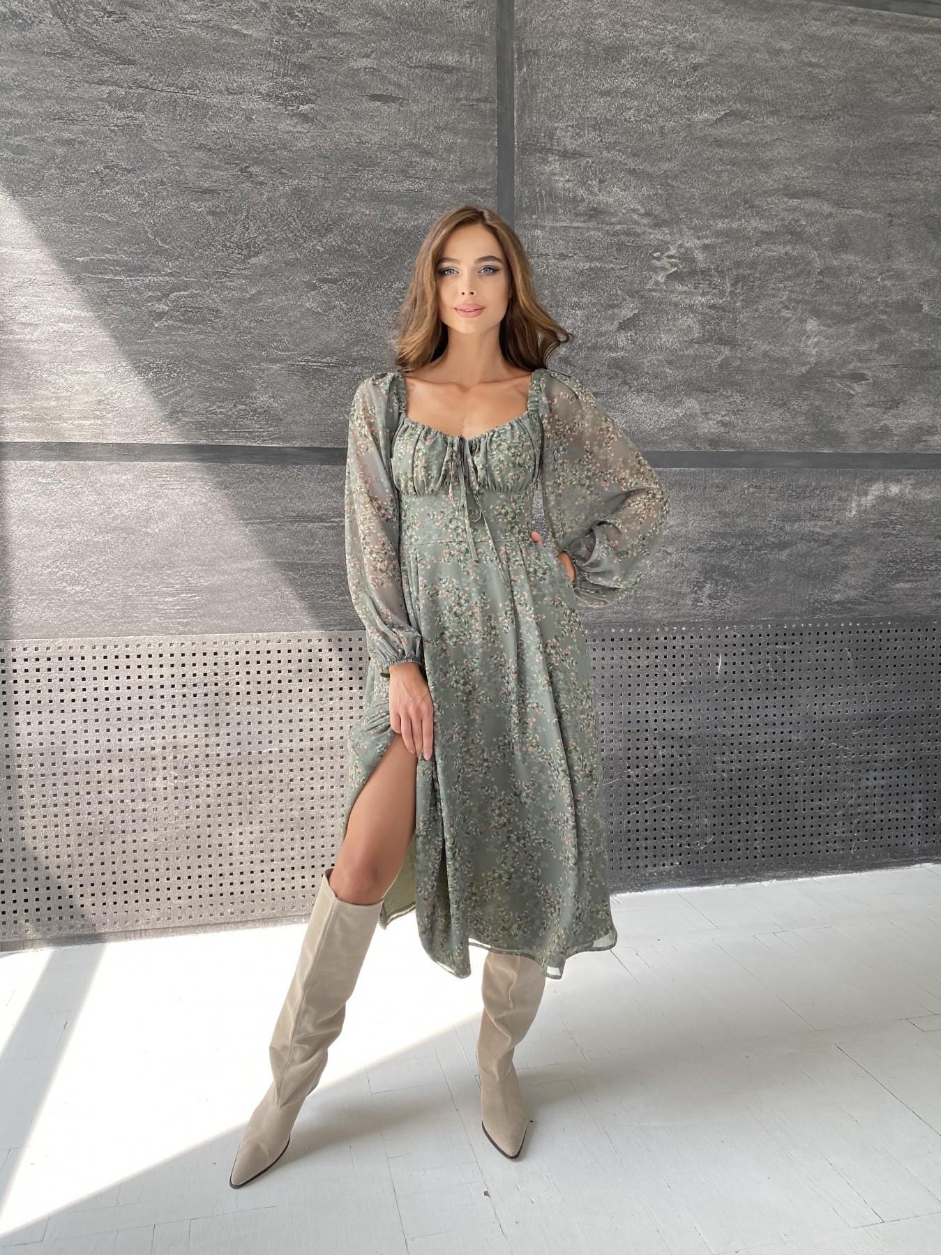 Платья Украина оптом от Модус Кисес платье из шифона с цветочным принтом 11774