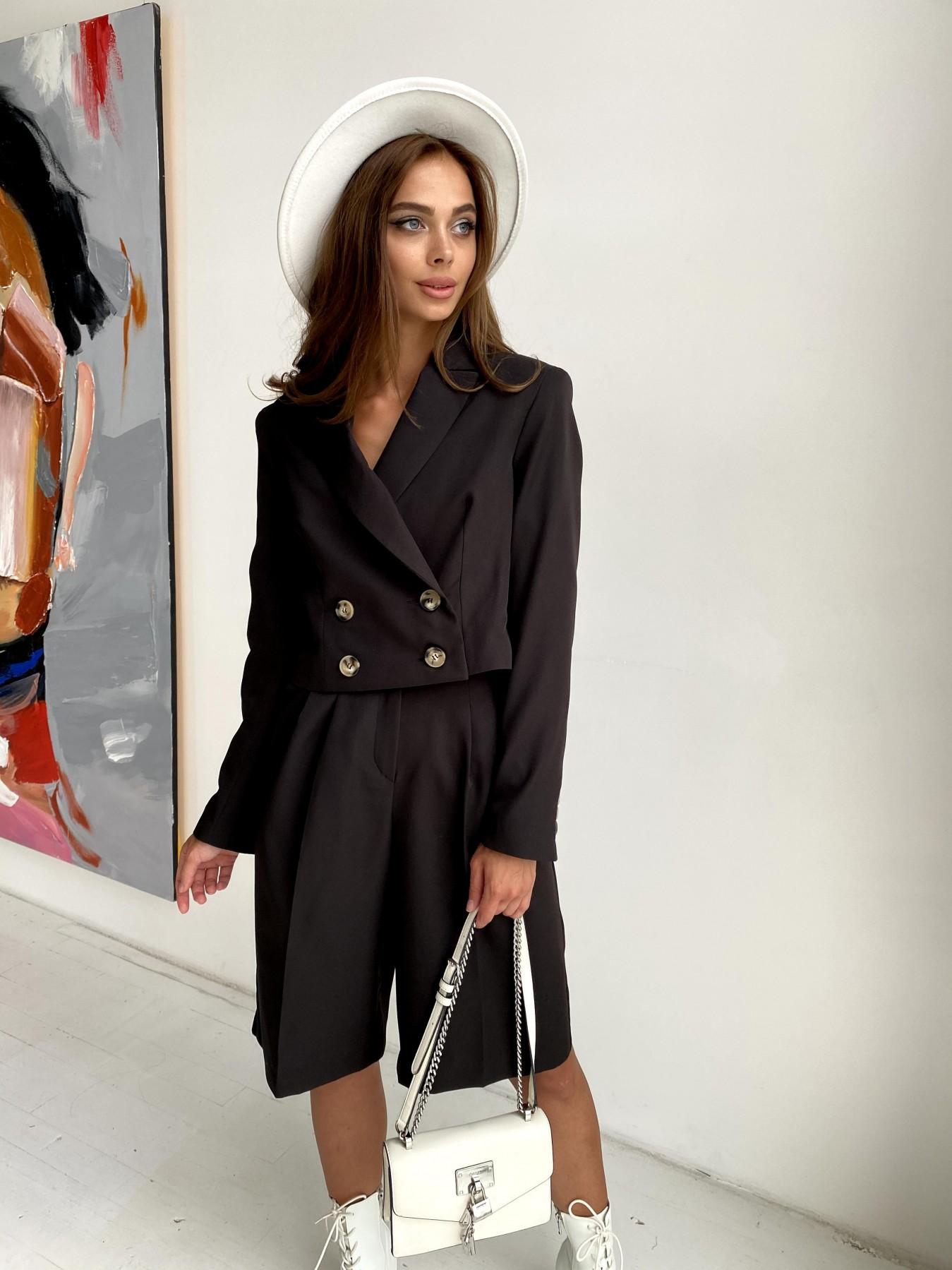 Оксфорд костюм из костюмной ткани стрейч 11548 АРТ. 48430 Цвет: Черный - фото 1, интернет магазин tm-modus.ru